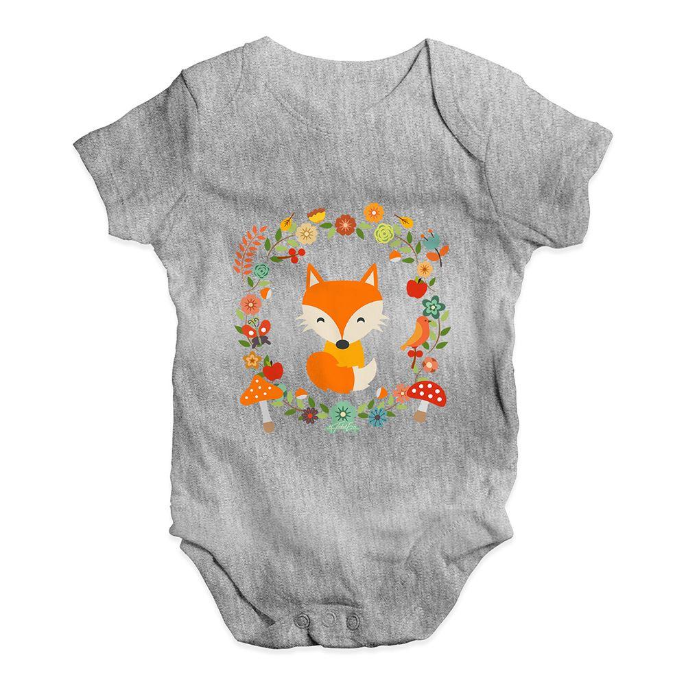 Twisted Envy White Fox Baby Unisex Funny Baby Grow Bodysuit