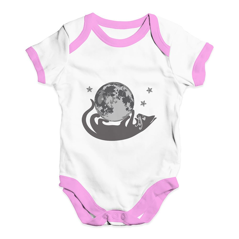 Twisted Envy Moon Cat Baby Unisex Funny Baby Grow Bodysuit