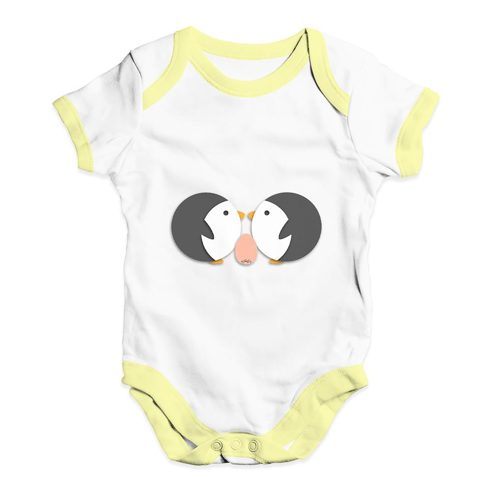 Twisted Envy Lovely Love Penguins Baby Unisex Funny Baby Grow Bodysuit