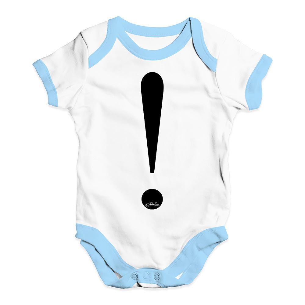 Alphabet Monogram Exclamation Mark Baby Unisex Funny Baby Grow Bodysuit
