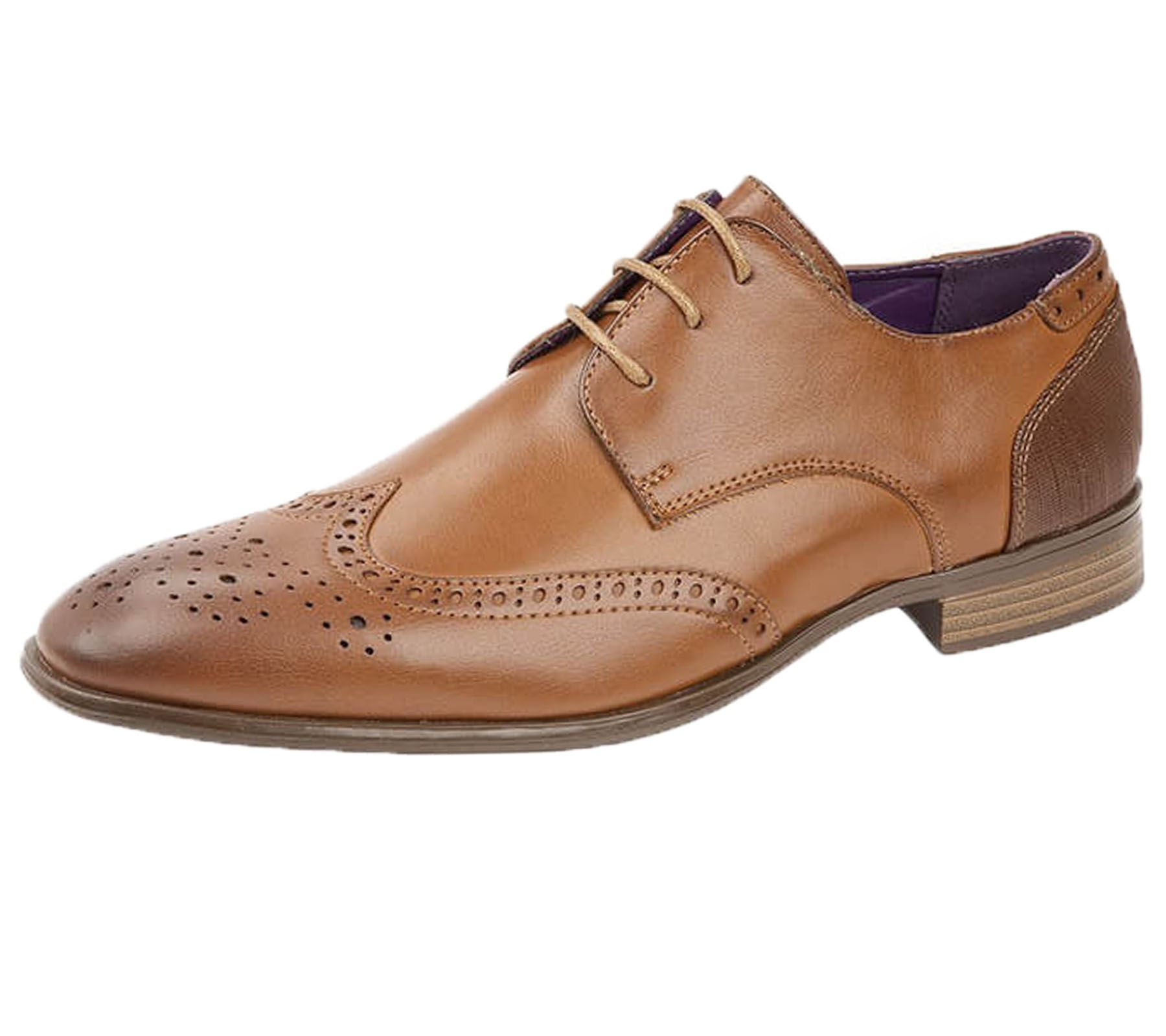 Mens Office Brogue Synthetic Leather Wedding Lace Up Shoes