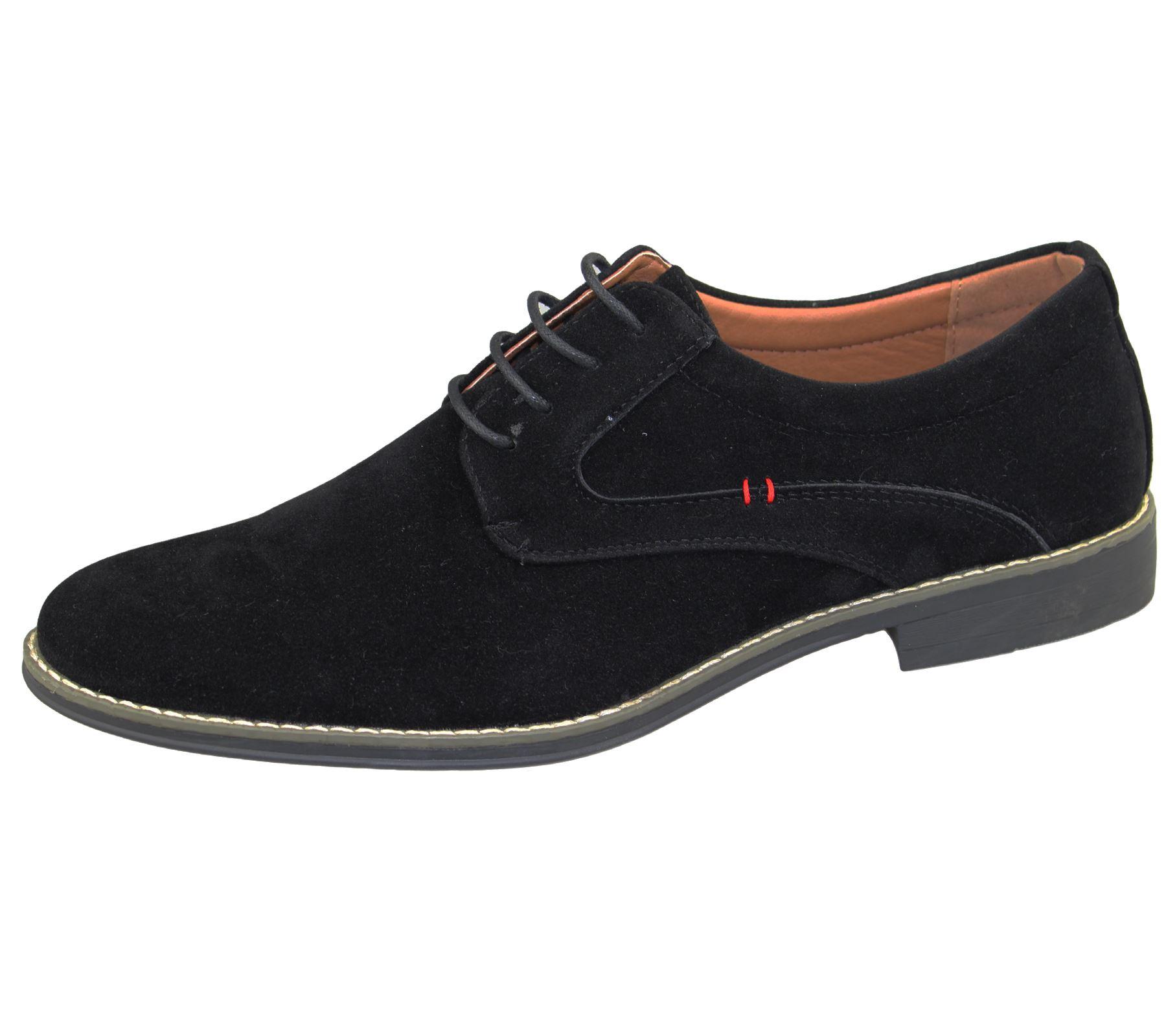 Zapatos De Vestir hombres Zapatos Con Cordones Oficina Formal Boda Casual De Gamuza Inteligente plana
