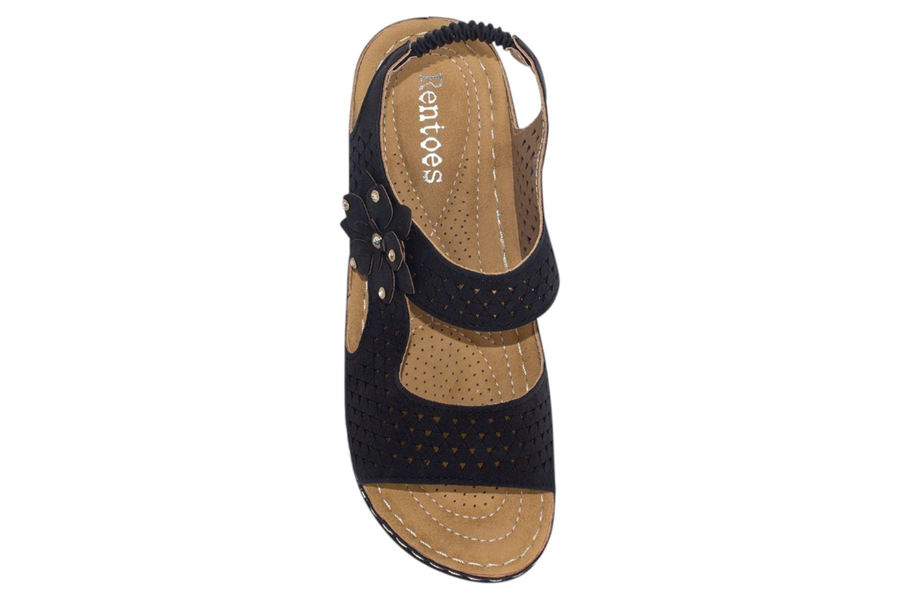Womens Wedge Heel Sandal Ladies Comfort Cushion Strapy Summer Beach Casual Wear
