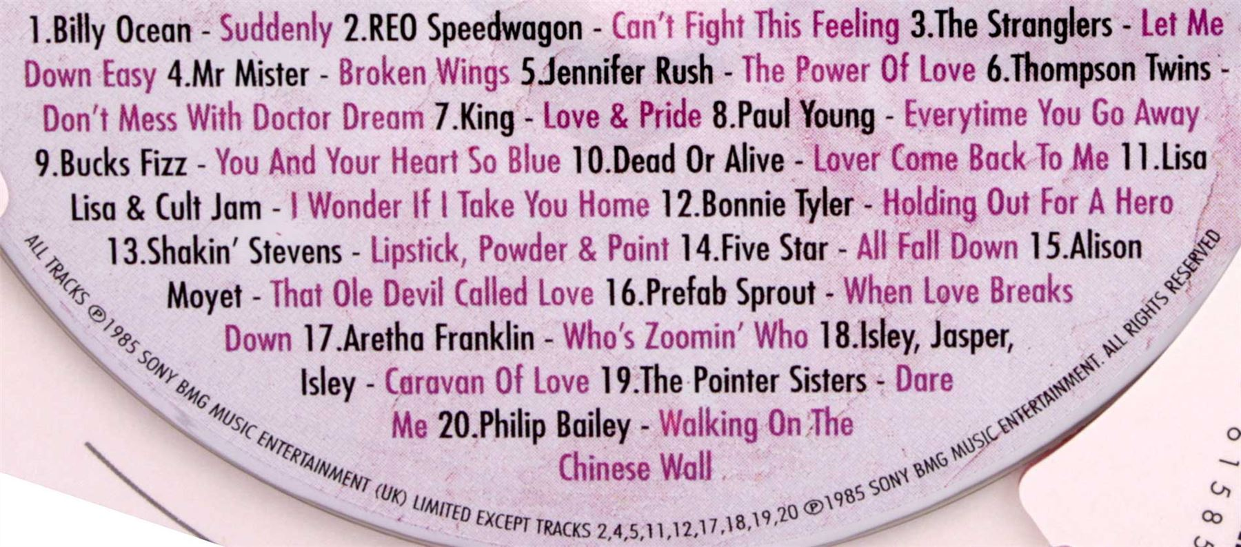 Anniversary or Birthday Gifts Hit Music CD /& Greeting Card 1980/'s any year