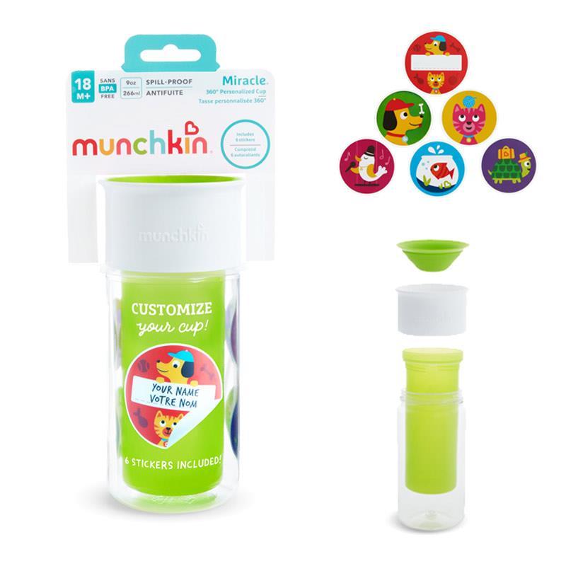 │ 90z Munchkin mi milagro 360 Taza Aislante personalizado de beber │ 18m