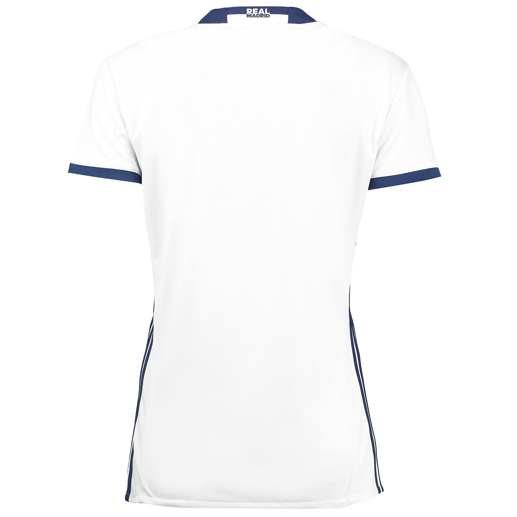 Adidas Da Donna Con Calcio In Real Madrid Home Maglia Jersey Enam Tujuh Ebay