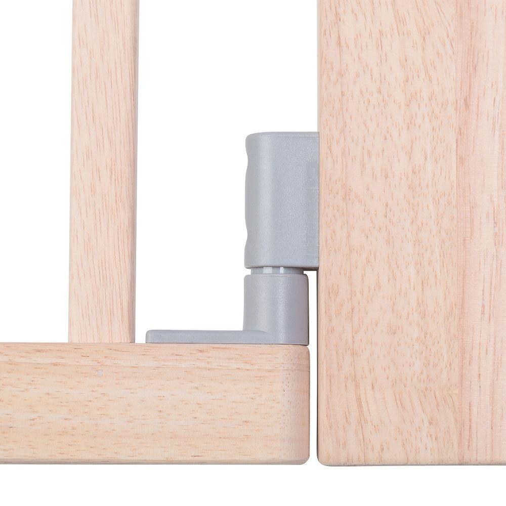 Safetots Solide Holz Druck Montieren Treppenschutzgitter Natur Weiß 74cm 97cm