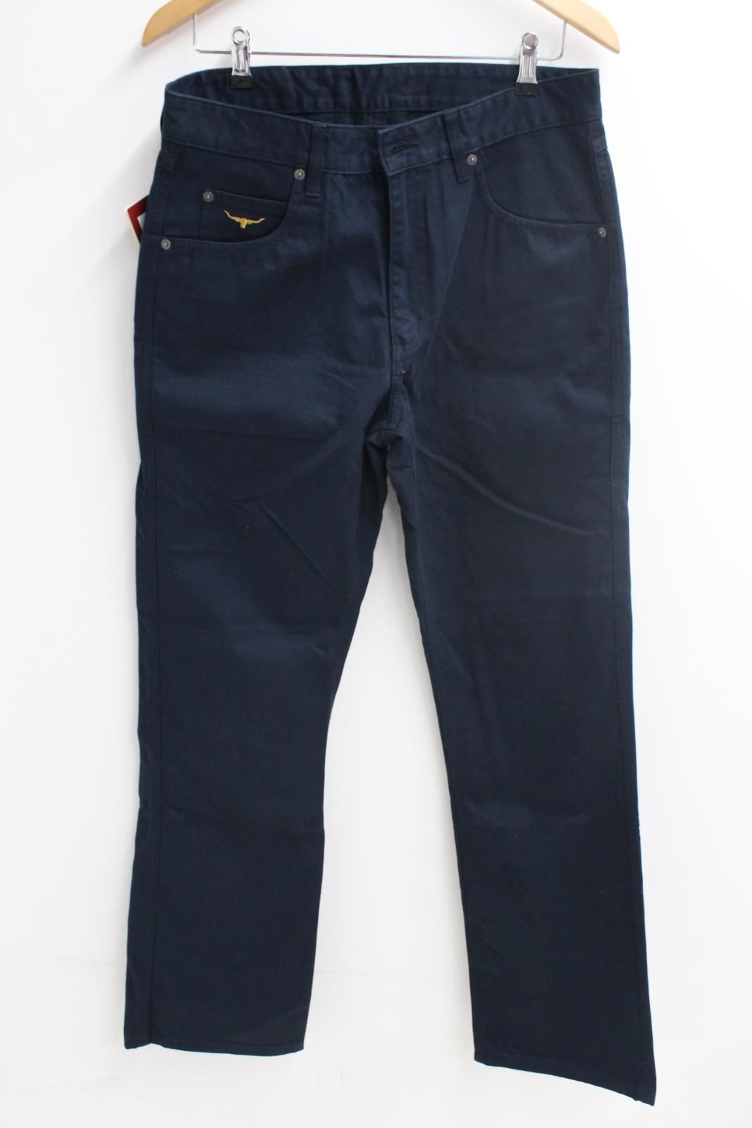 BNWT R.M WILLIAMS Mens Linesman Low Rise Regular Fit Jeans Straight Leg 32R