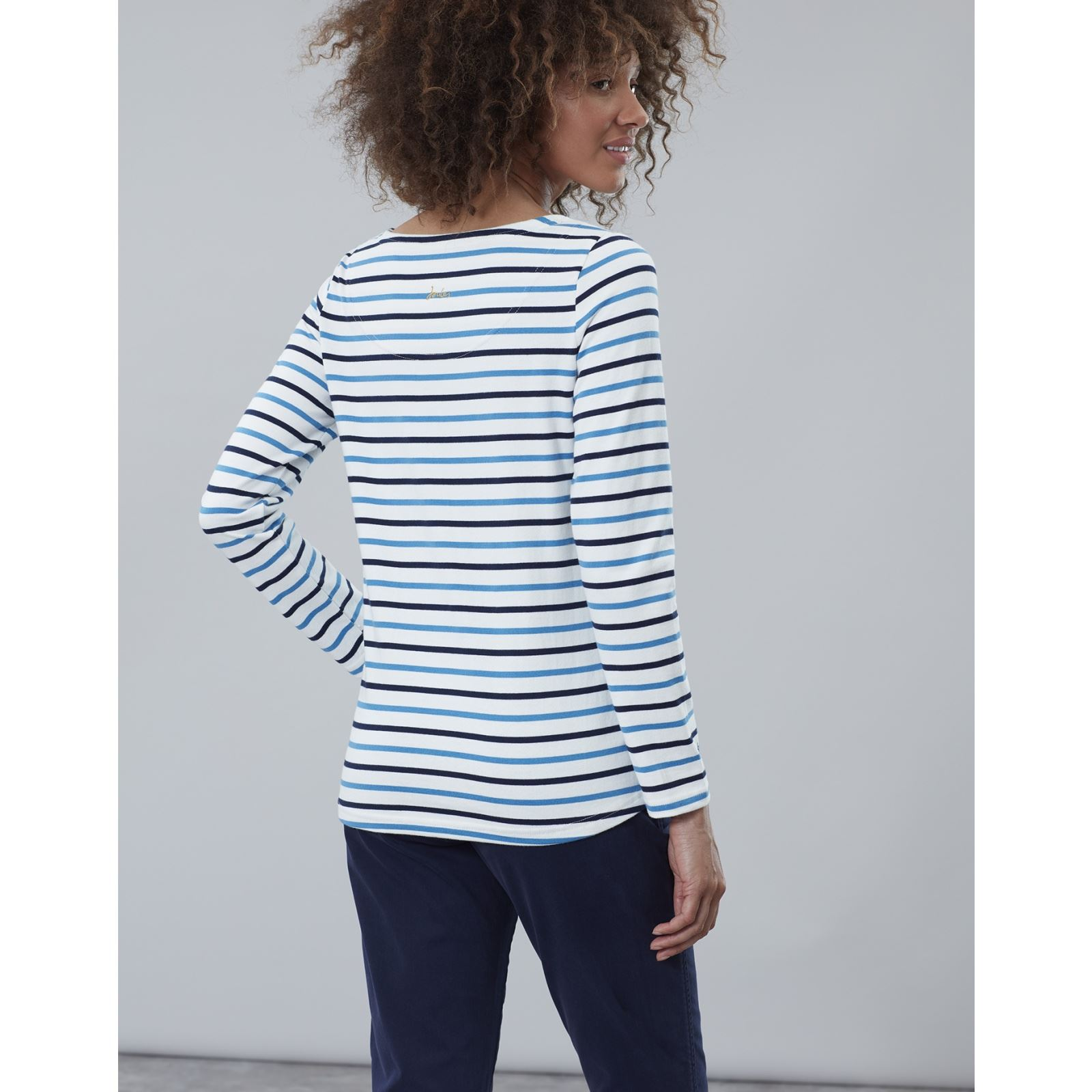 MORE COLOURS Joules Harbour Embroidered Long Sleeve Jersey Top