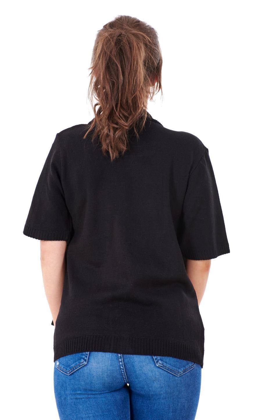 Femme Nouveau Twin Set rayé à encolure ras-du-cou à manches courtes Cardigan cavaliers S-XL