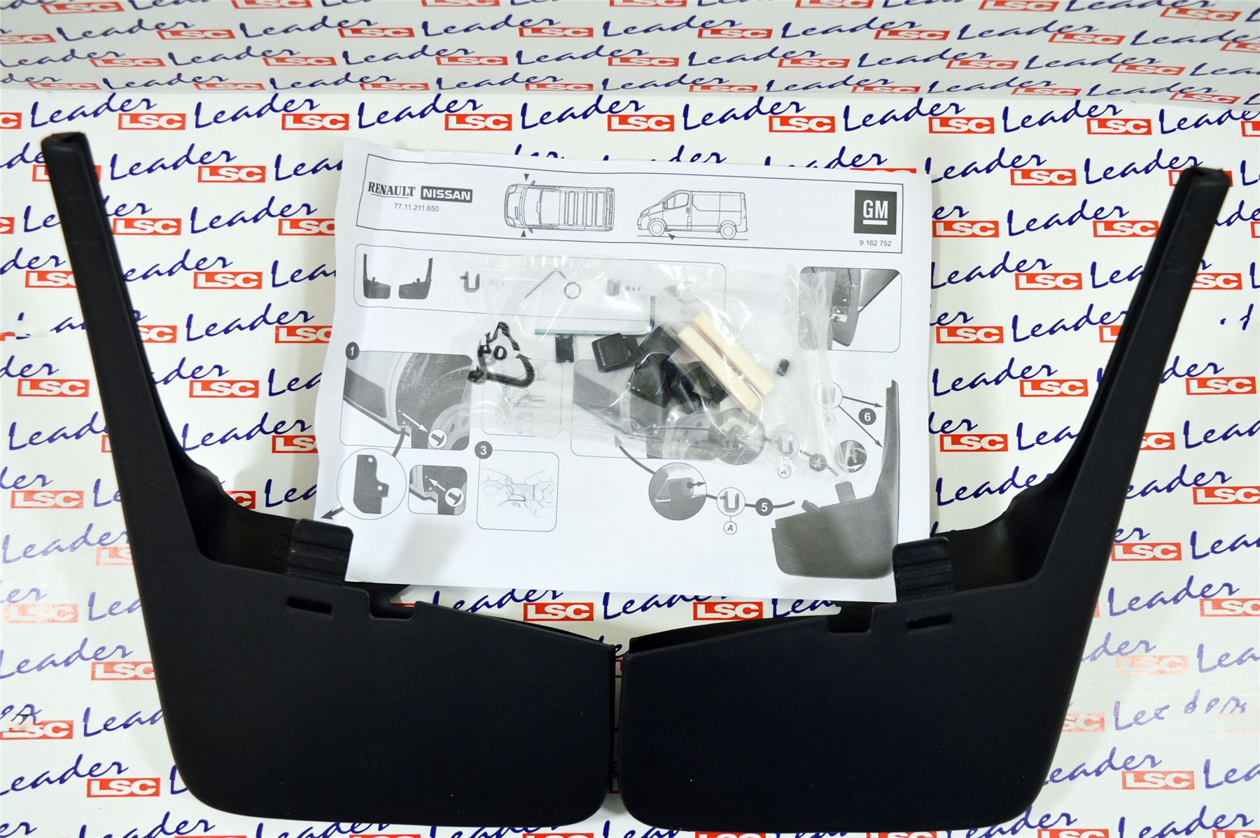 Front Mudflaps 9162752 Original GM New 2001 to 2014 Vauxhall Vivaro A