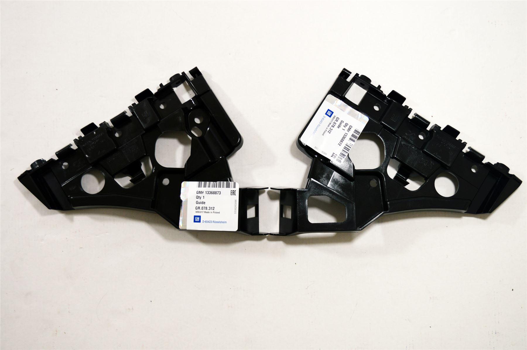 BRACKETS *NEW* VAUXHALL ASTRA J 13-16 LH /& RH FRONT BUMPER RETAINING GUIDES