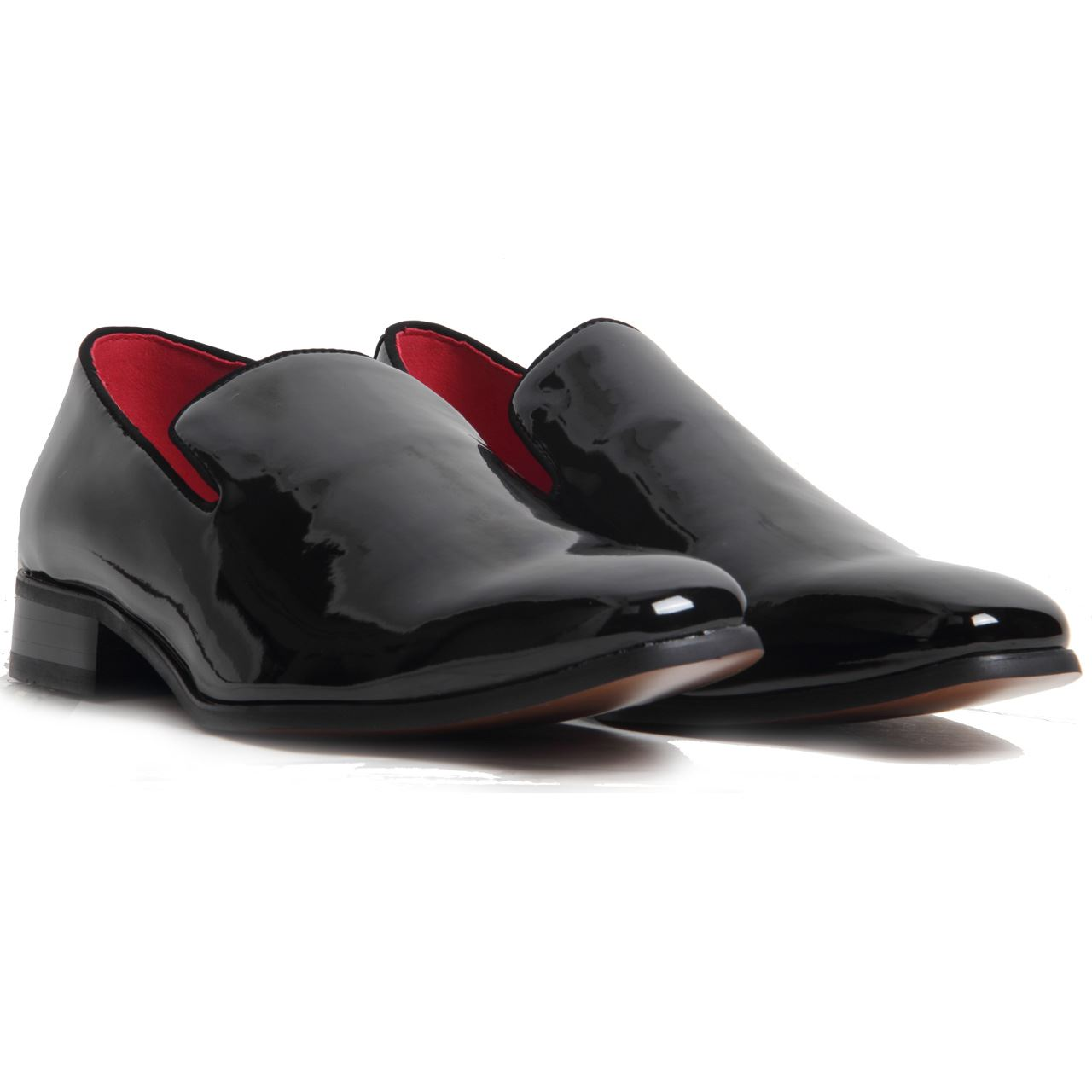 Men fashion loafer slip on patent suede wedding party shoe black white red navy.