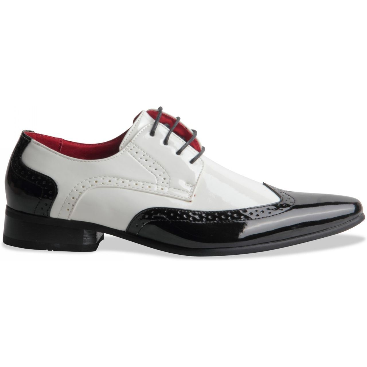 Casual Party Footwear. Pointed Toe Brogue Rossellini Men Lace-up Smart Shoes