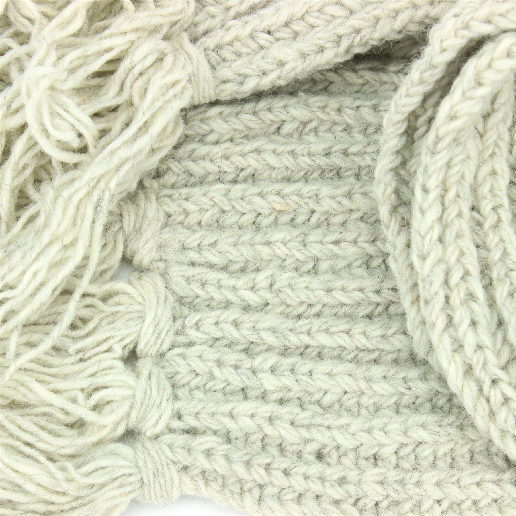 Wool Scarf Chunky Knit Tassels Long Knitted Warm PLAIN Shawl LoudElephant
