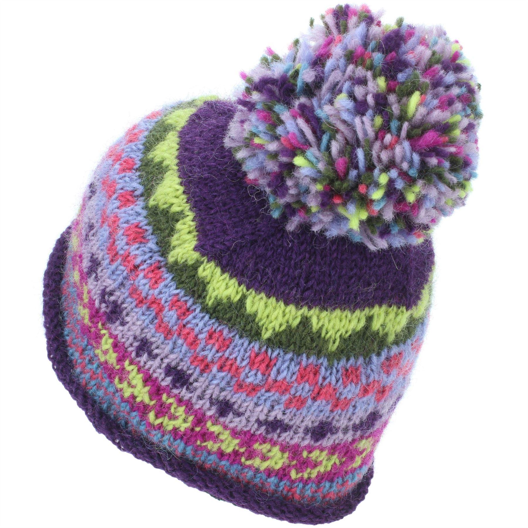 Cappello Beanie Lana Cappuccio Bobble Caldo Inverno Modello Bright LOUDelephant Foderato Lavorato A Maglia