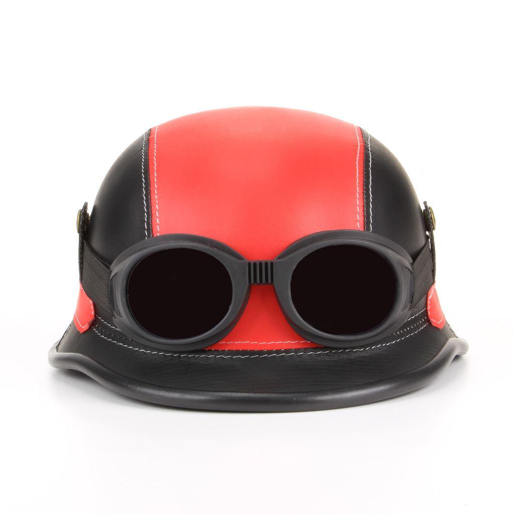 Helmet Hat Steam Punk Biker Rocker Goggles LoudElephant Festival Novelty