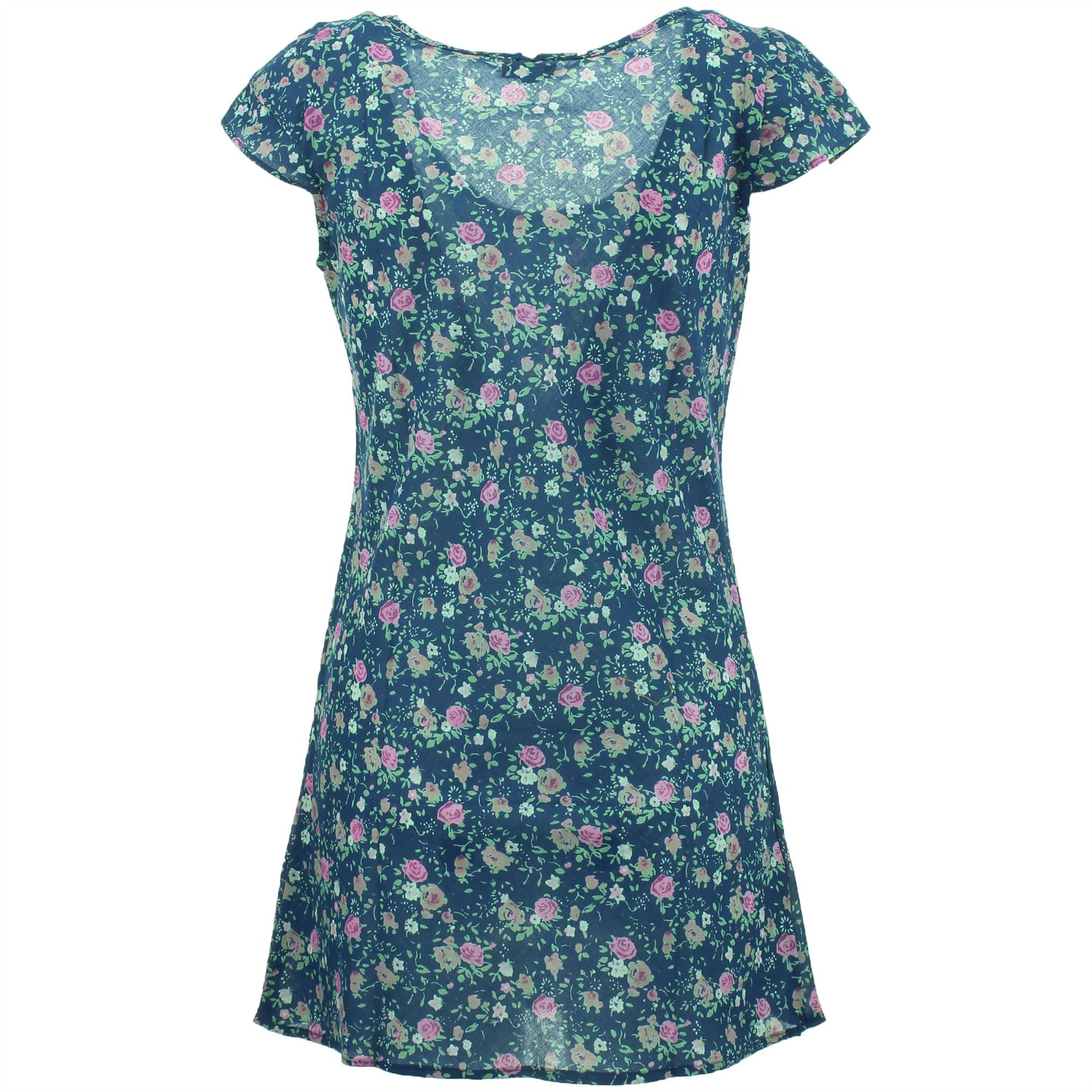 TUNIC TOP FLORAL PRINT BEACH COVER UP DRESS FESTIVAL SUMMER by Gabrielle Parker