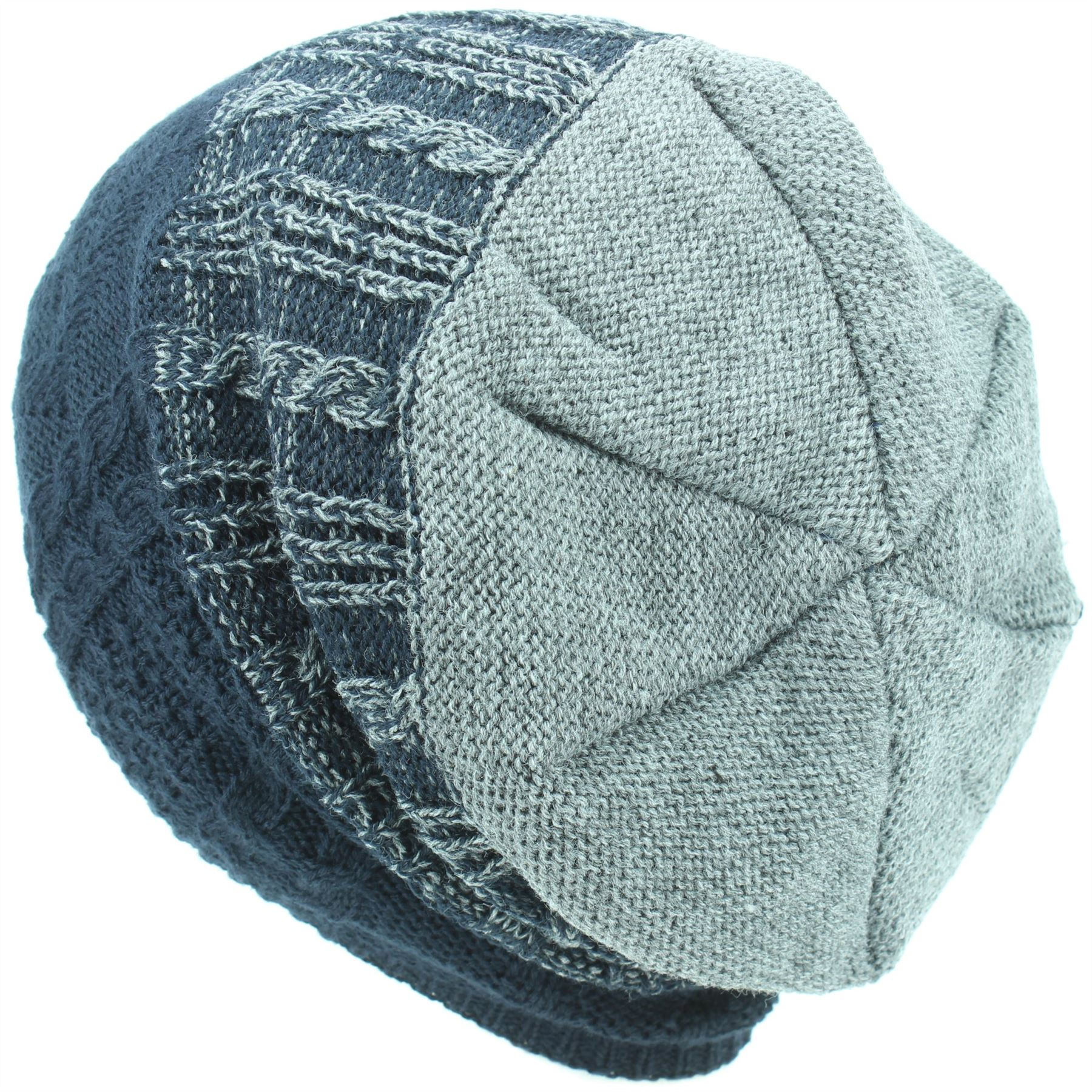 Beanie Hat Wool Knit Baggy Slouch BOHEMIA SWEDEN Winter Warm Lined