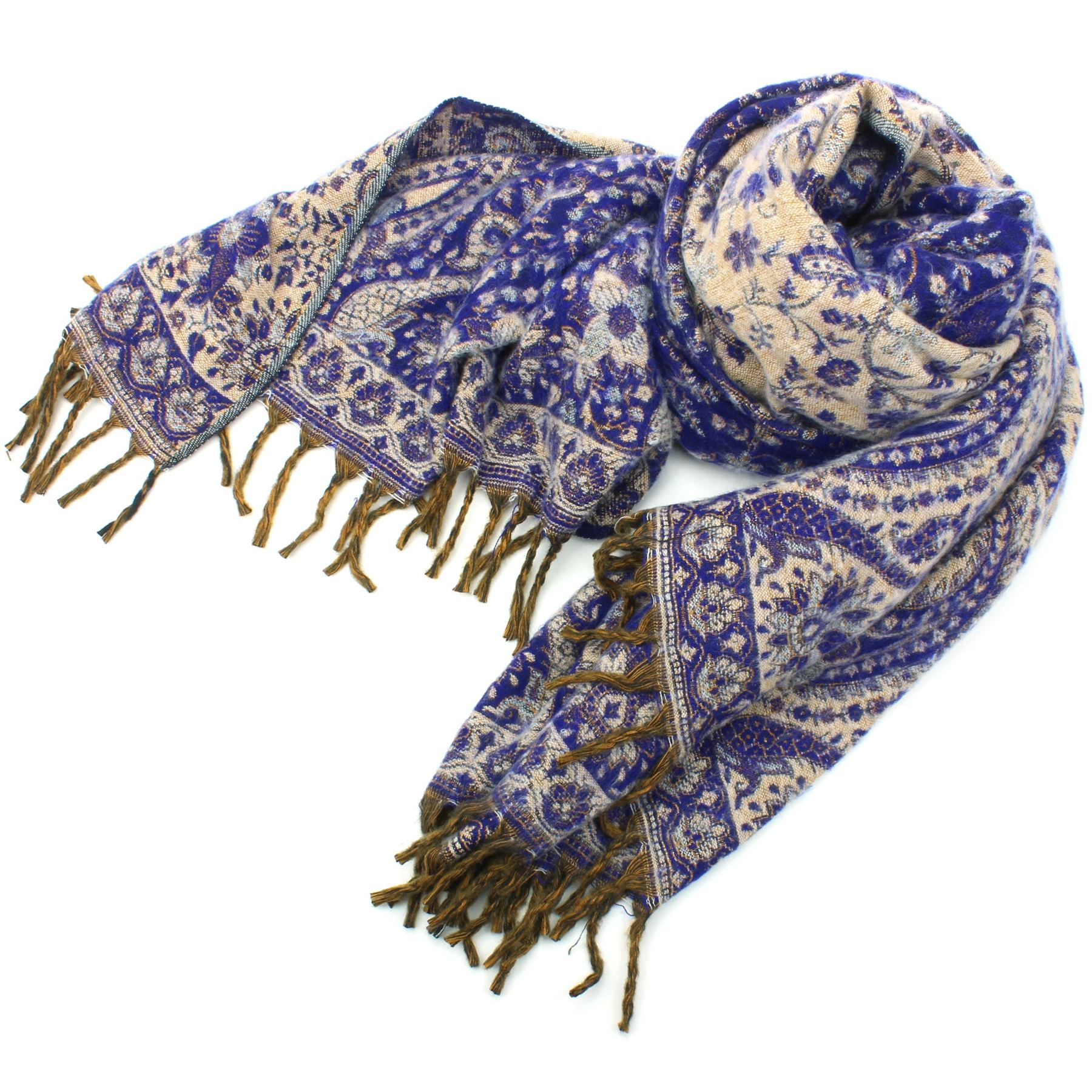 Acrylic Wool Blanket Shawl Wrap Throw Finest Softest India Paisley Travel