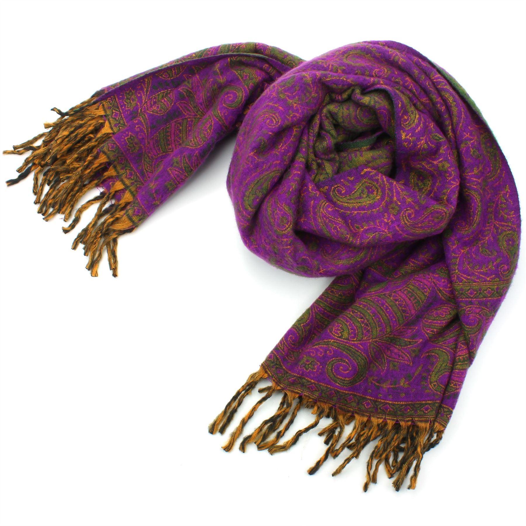 Acrylique Couverture de laine Châle Wrap Throw Finest S Softest Inde Paisley Travel