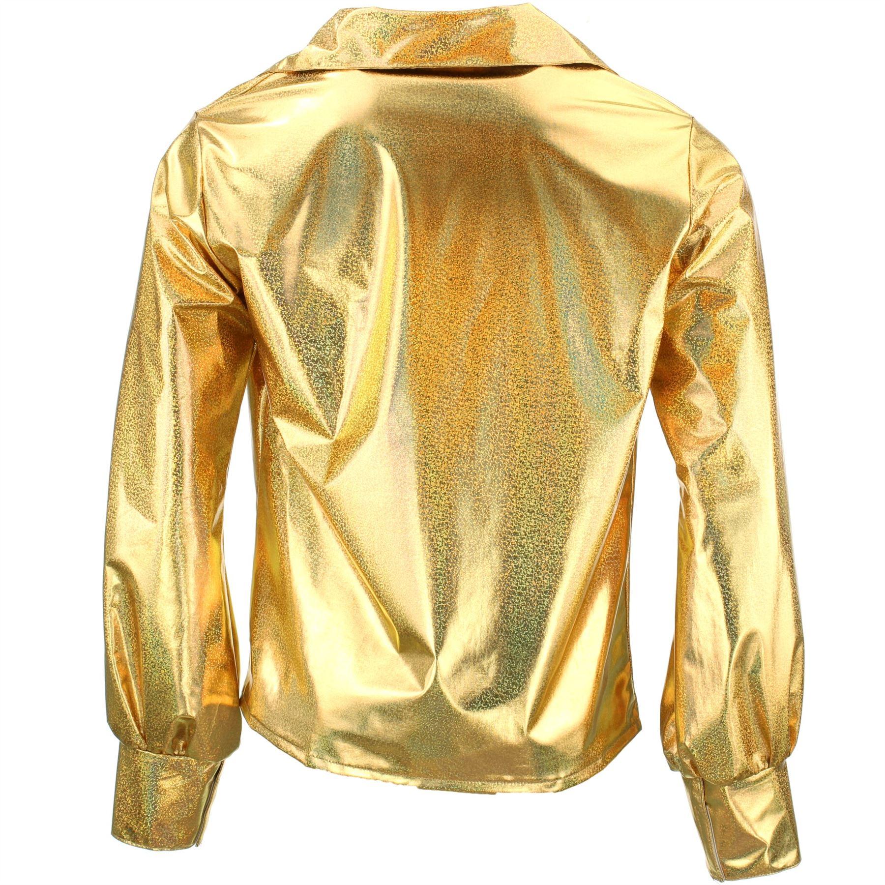 Shiny Metallic 70/'s Shirt Firefly Party Dressing up