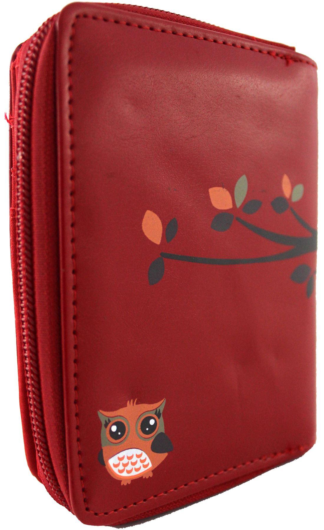 Kukubird UK Owl Family Tree House Pattern Medium Size Ladies Purse Clutch Wallet