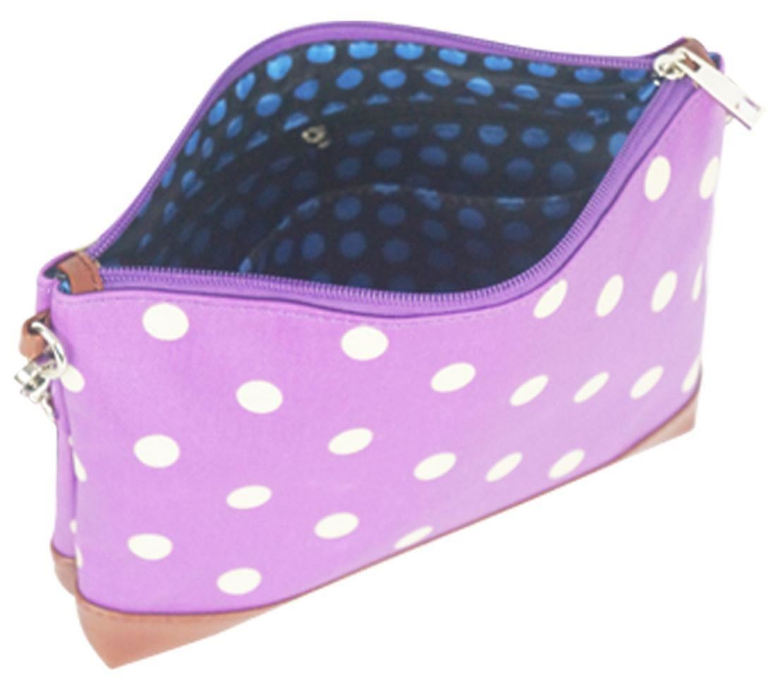 Polka Dot Pattern Print Mini Cross Body Bag