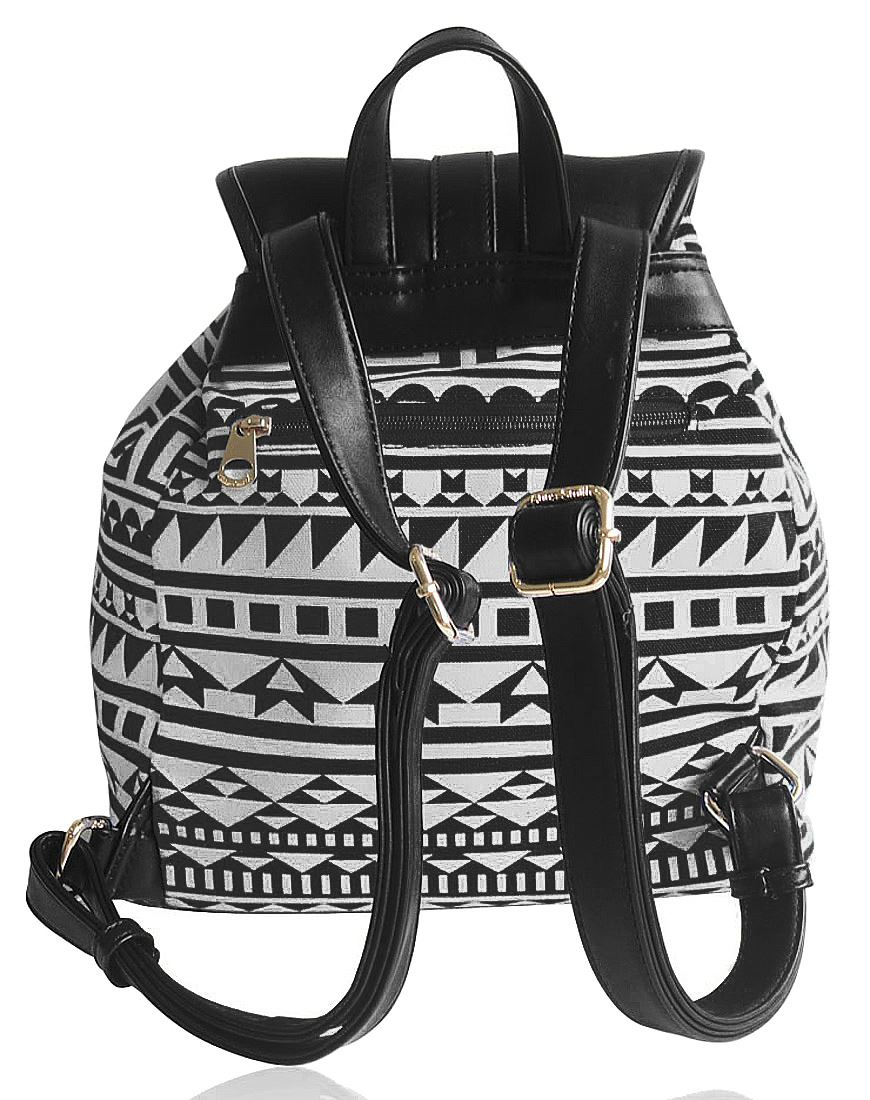 Anna Smith Aztec-Pattern Print With Front Pocket Backpack Rucksack