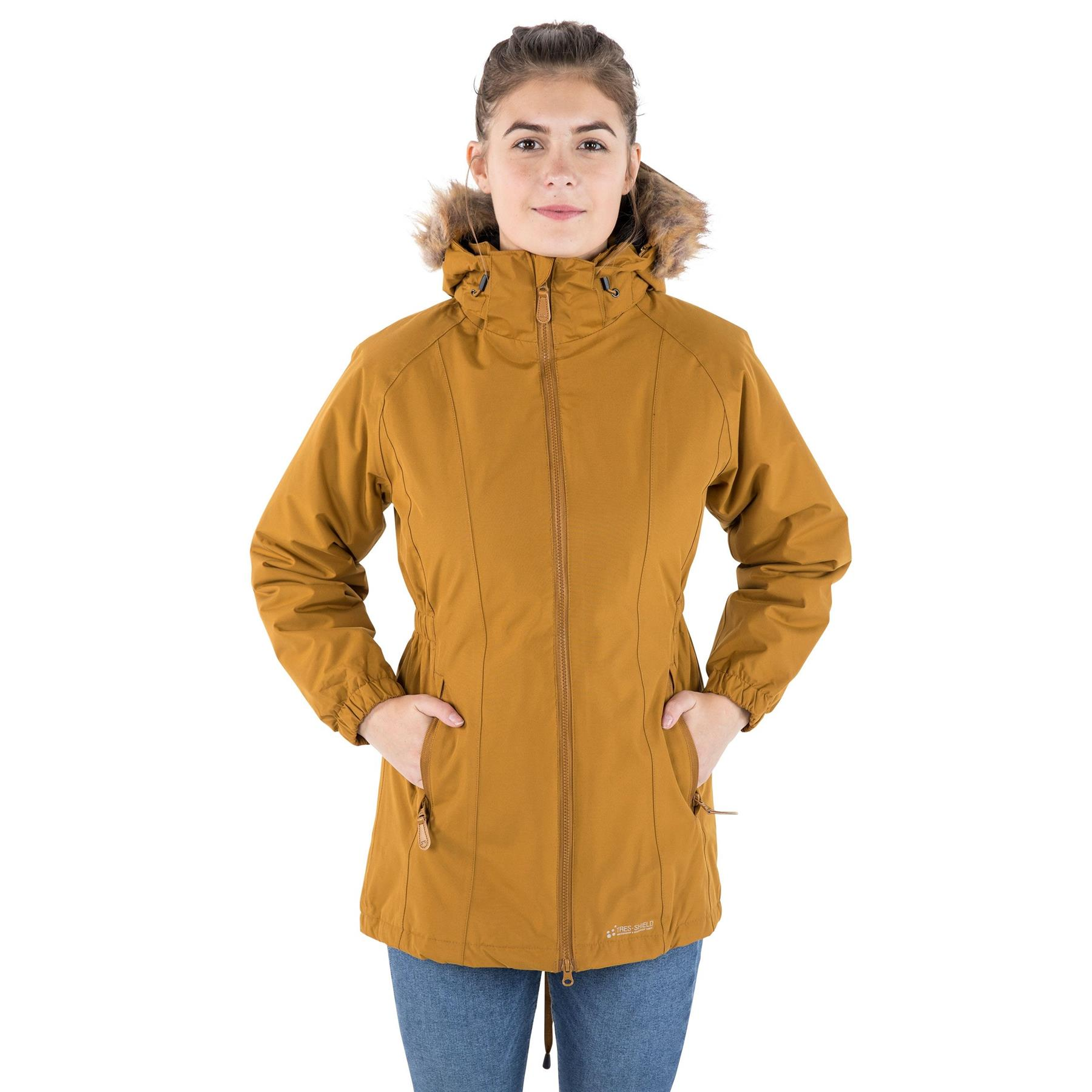 Trespass Womens Celebrity Waterproof Coat Hooded Full Zip Jacket