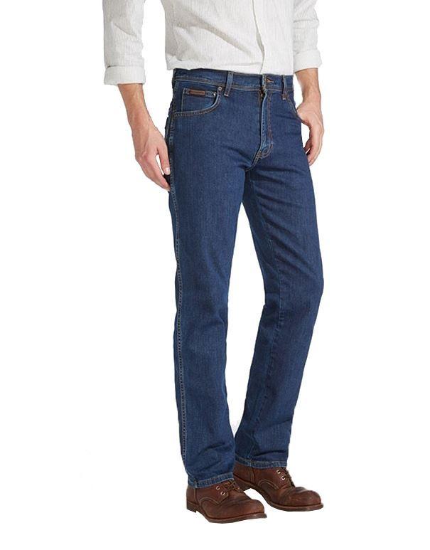 Big Mens Wrangler Texas Stretch Dark Denim Jeans
