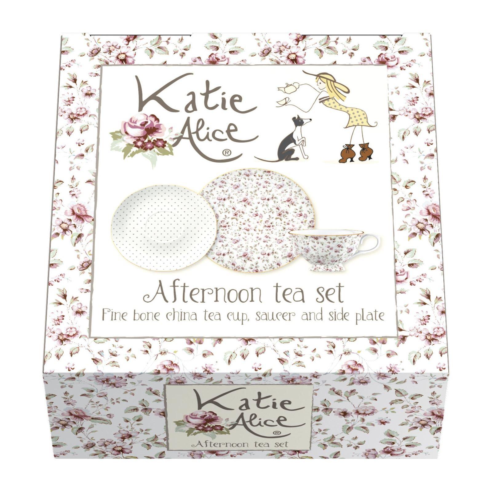 Tableware Serving Linen Katie Alice Ditsy Floral Afternoon Tea Cup Saucer Side Plate Set Gift Box Home Furniture Diy Quatrok Com Br