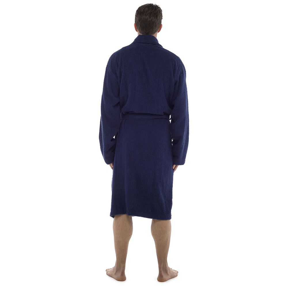 Mens 100/% Cotton Terry Towelling Bath Robe//Dressing Gown Size M-XL