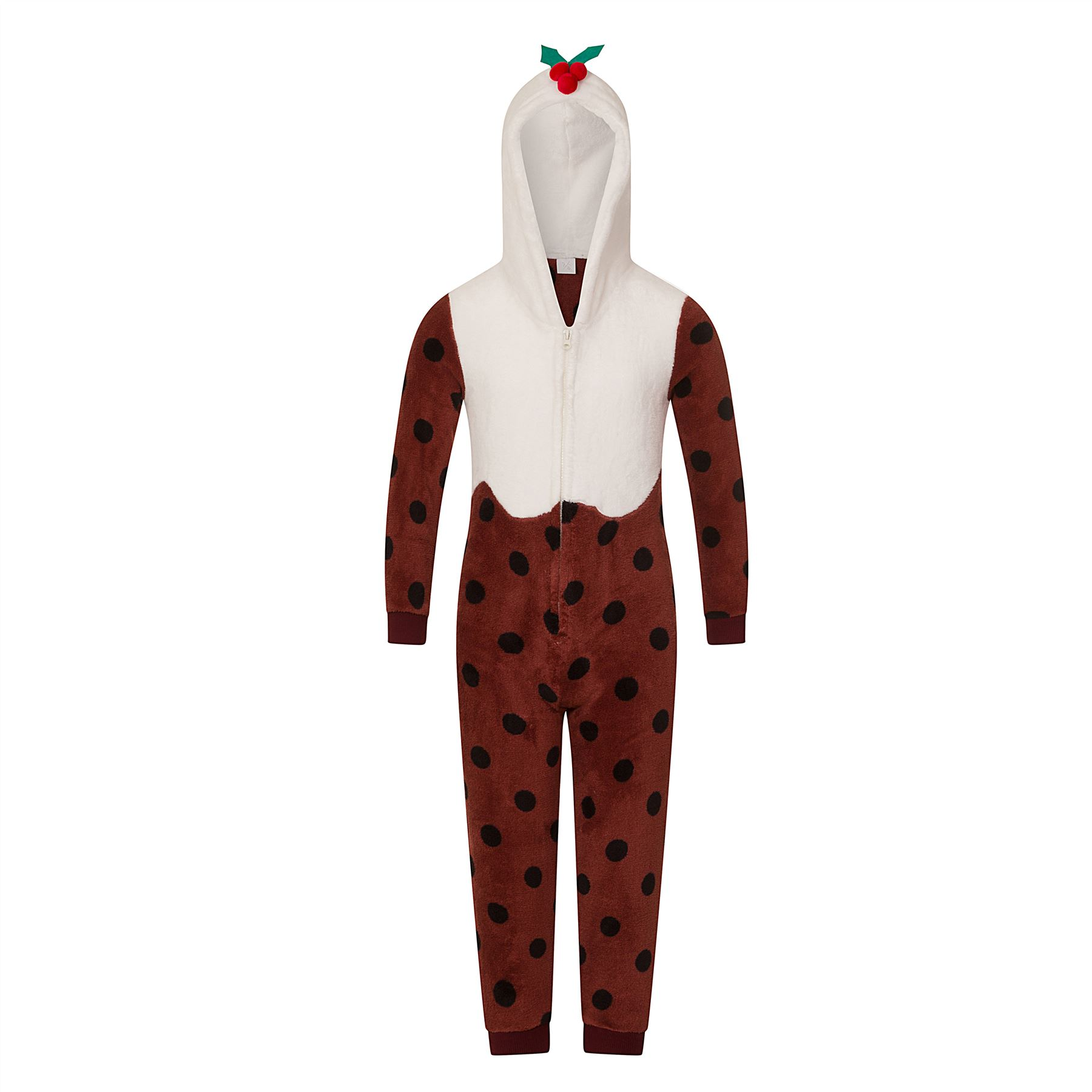 Ladies//Womens//Girls Fleece All In One Pyjamas Outfit Costume Hood Size 6-22