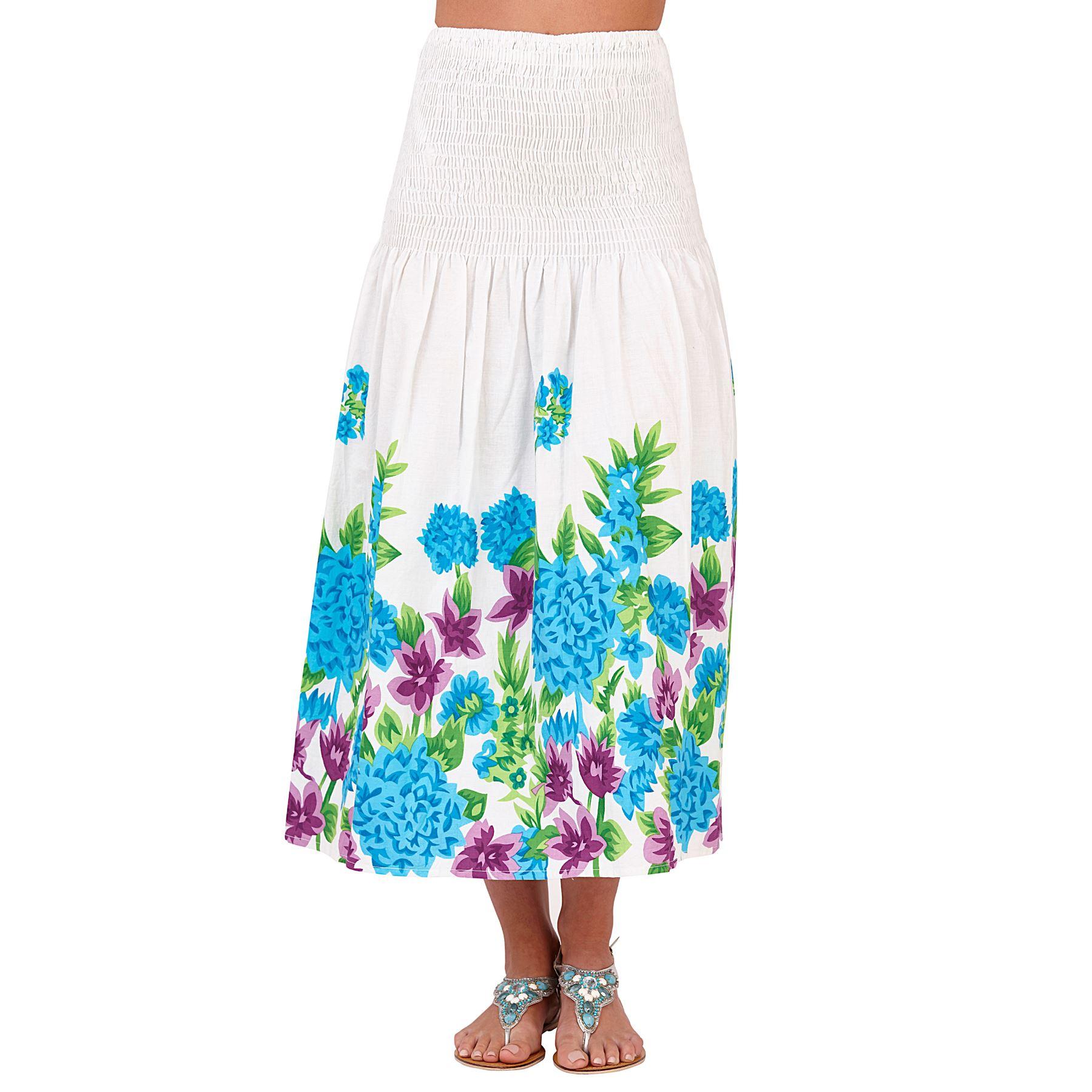 Womens Ladies Summer Beach Cotton Bandeau Strapless Dress Maxi Skirt Size 8-22