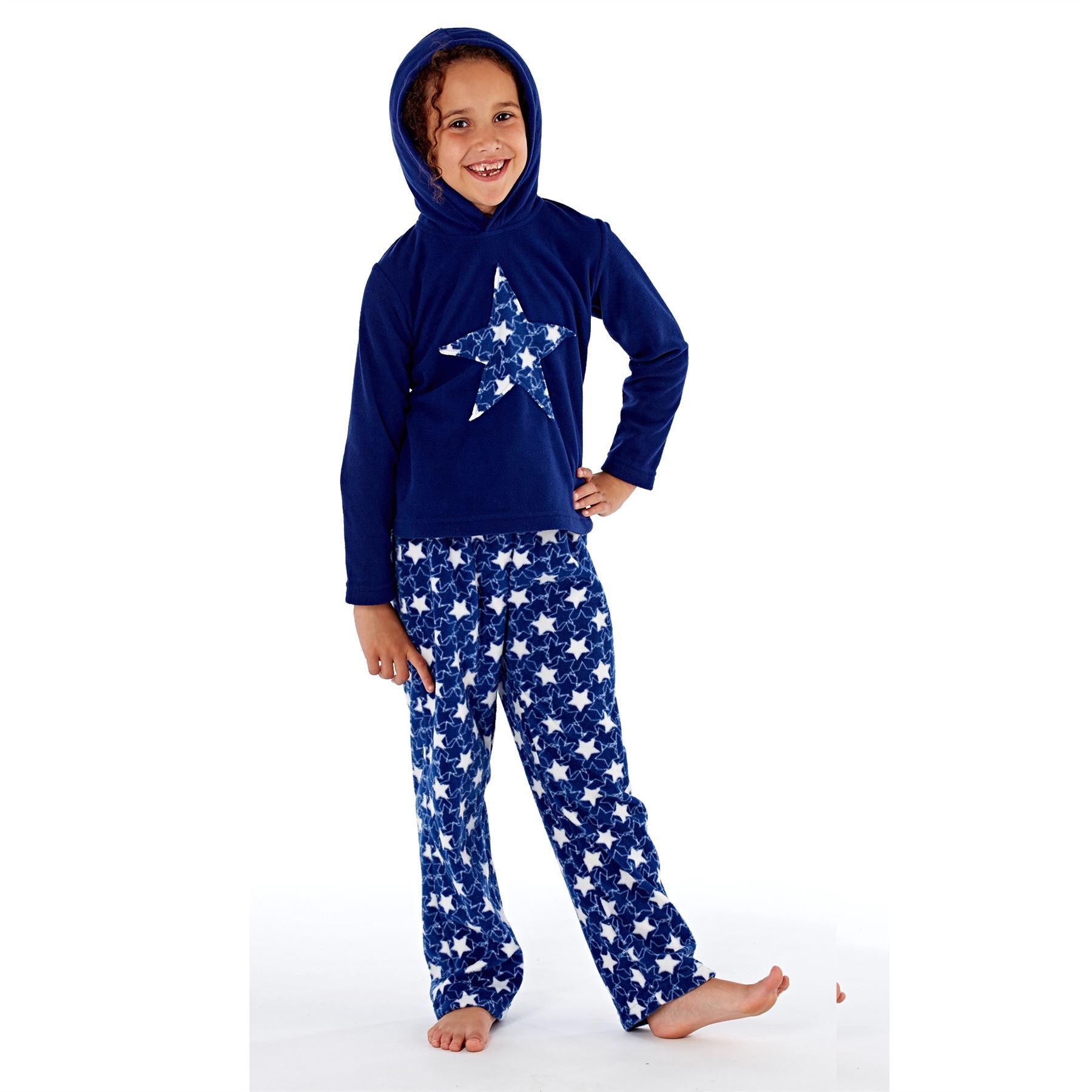 Girls//Boys Fleece Pyjamas Childrens Pyjama Set Kids PJs Age 2-13 Years