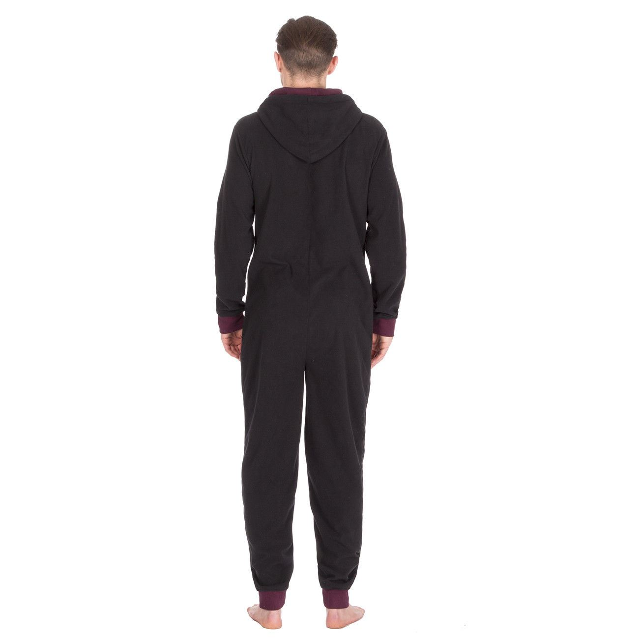 Mens//Boys All In One Fleece Jumpsuit Pyjamas Hood Size Small Medium Large XL