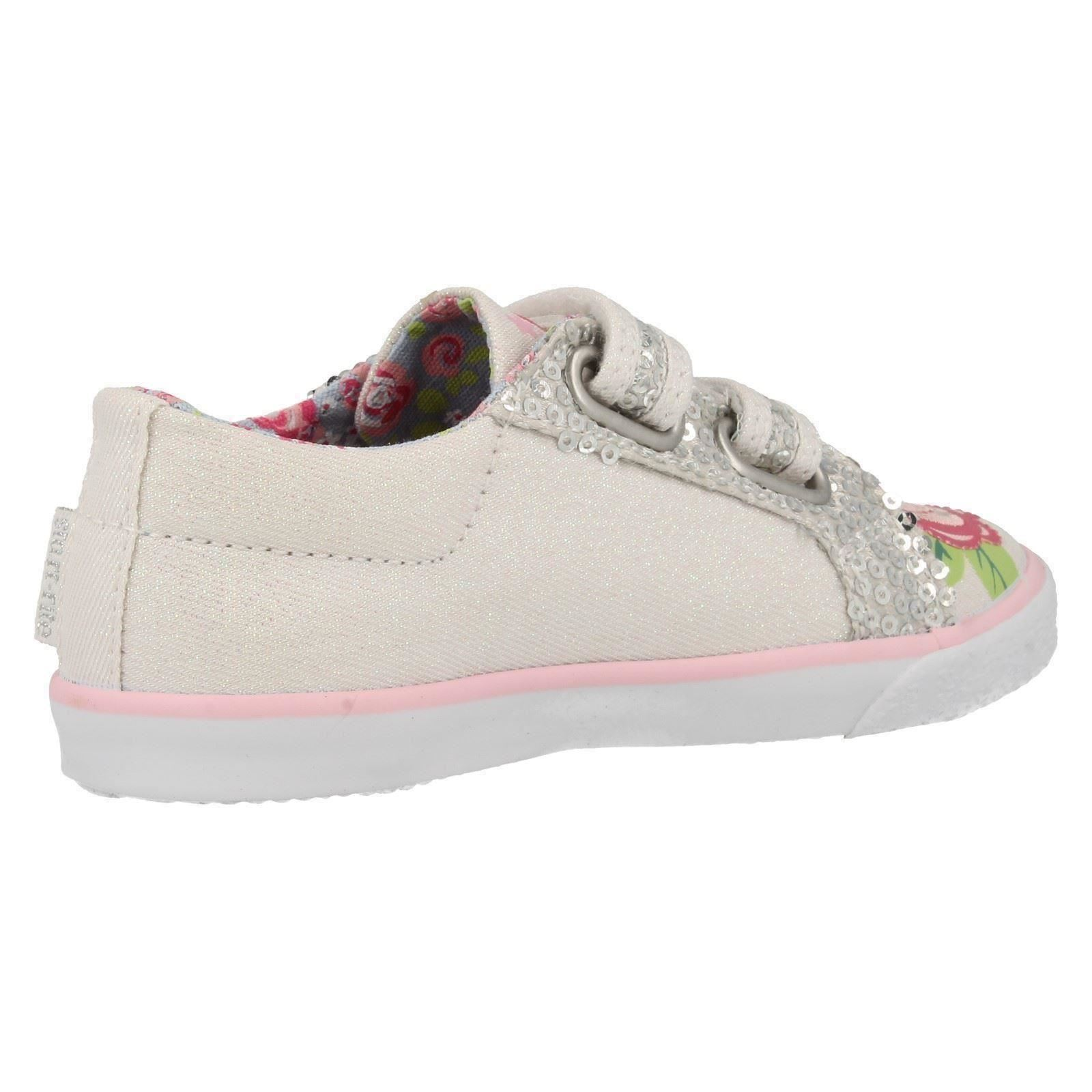 Girls Casual Startrite Washable Canvas Pumps Rosebud