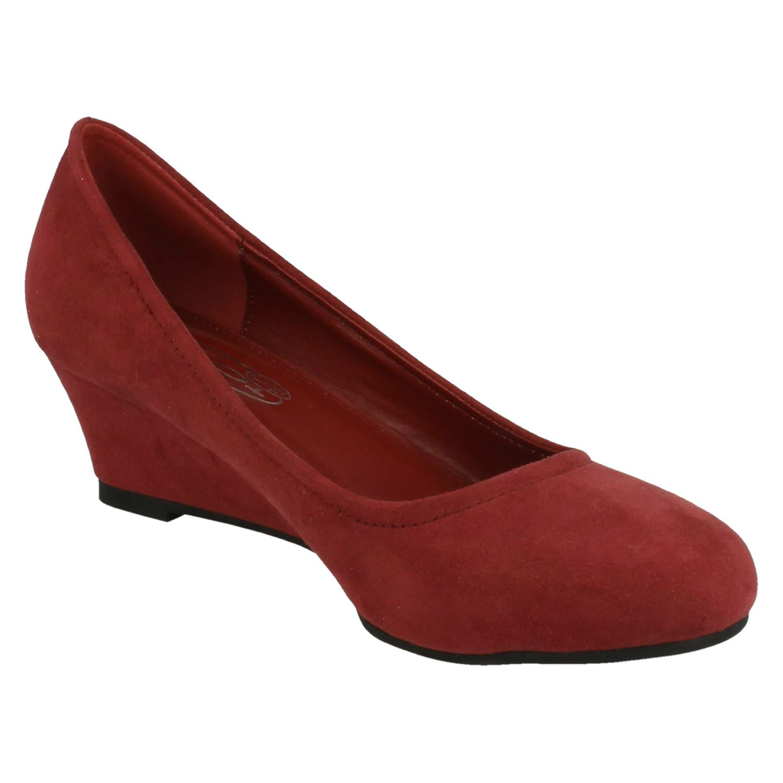 Ladies Spot On Pumps With Wedge