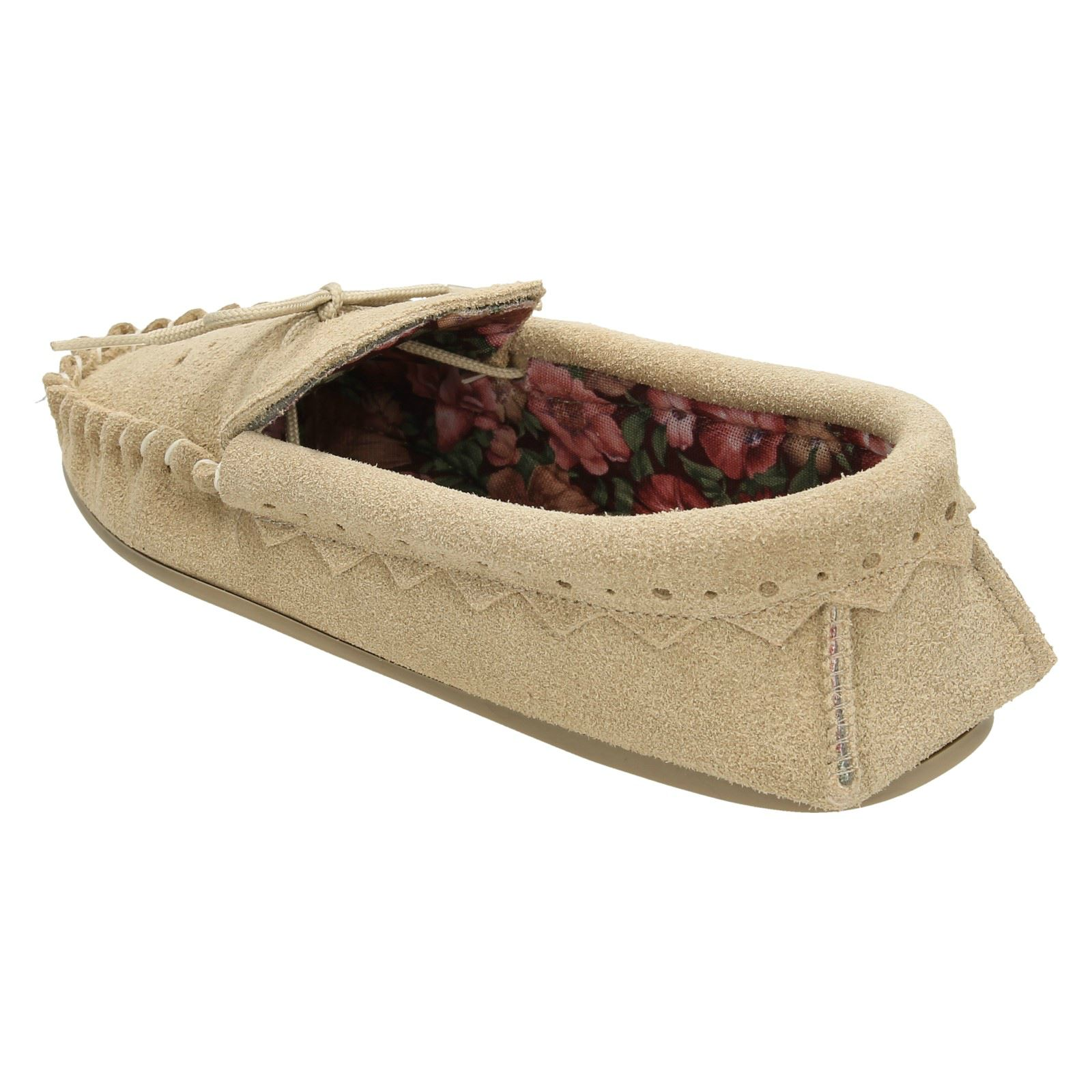 Real Suede Moccasin Ladies Slip On Slippers