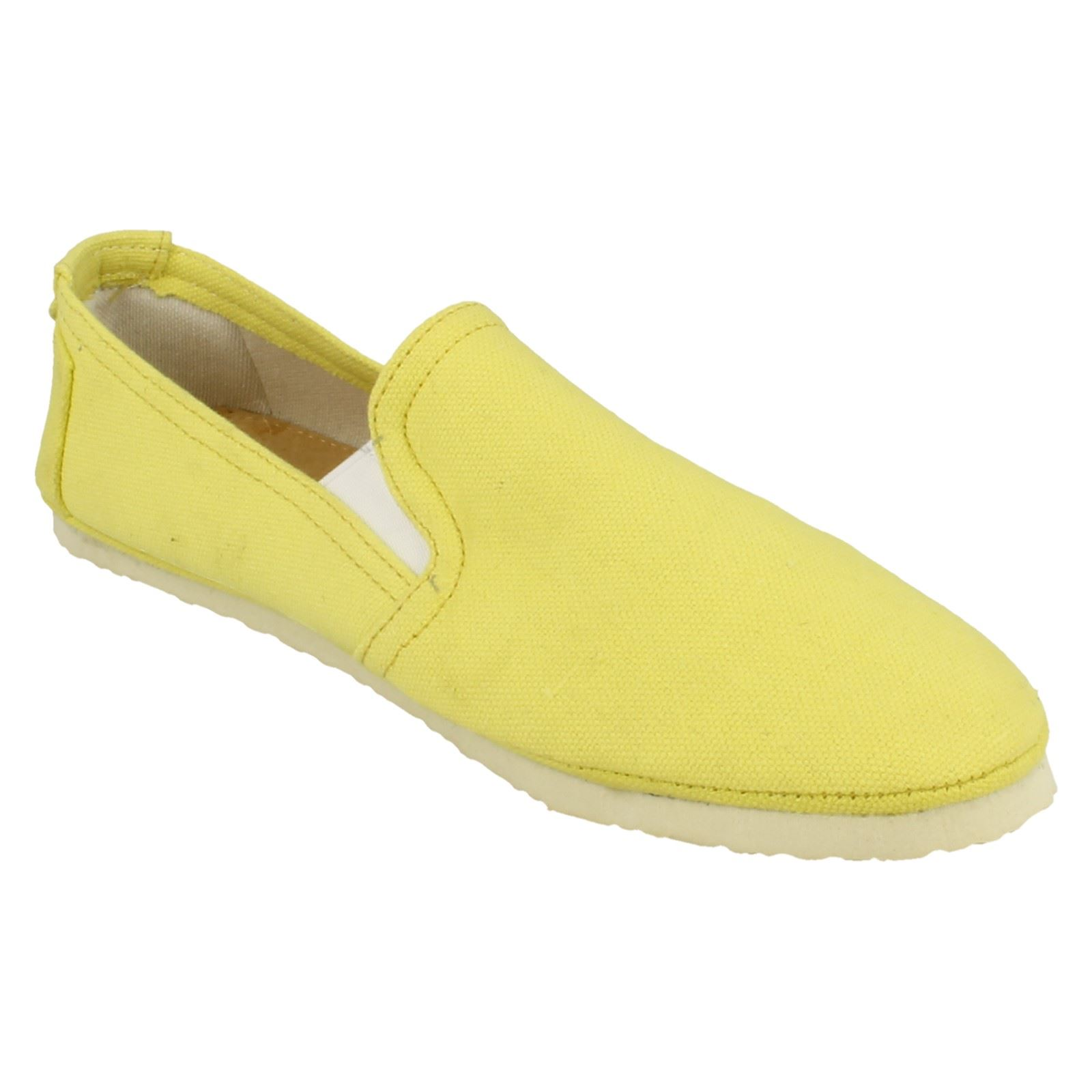 Ladies Spot On Casual Slip On Flat Gusset /'Shoes/'