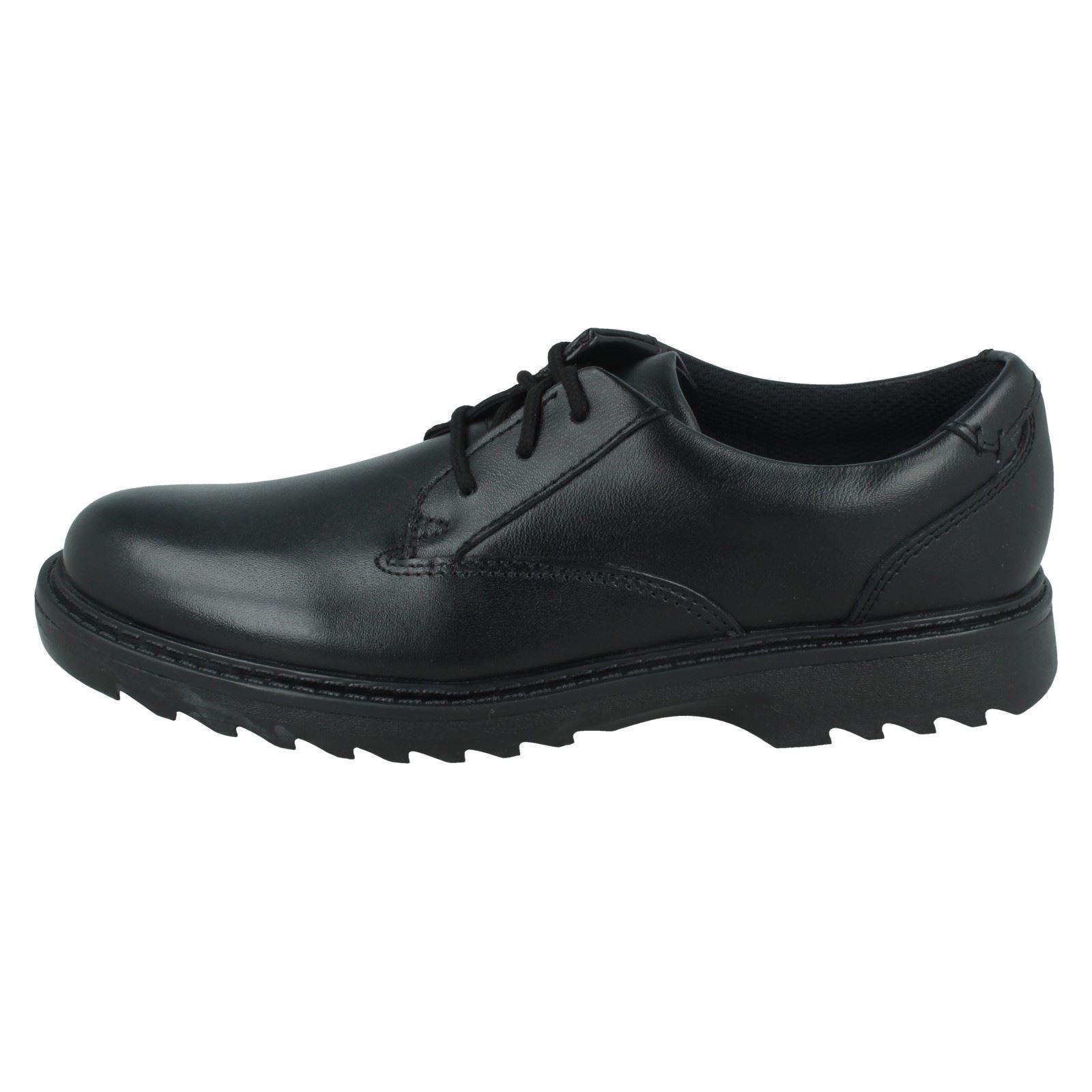 Chicos Clarks Asher Jazz Inteligente Con Cordones Zapatos Escolares