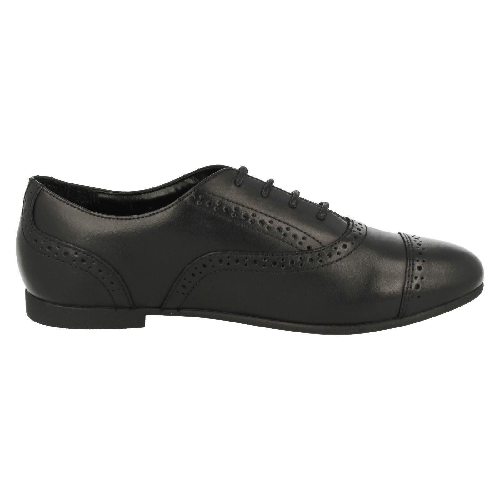 Girls Clarks Formal Brogue Style School Shoes Selsey Cool