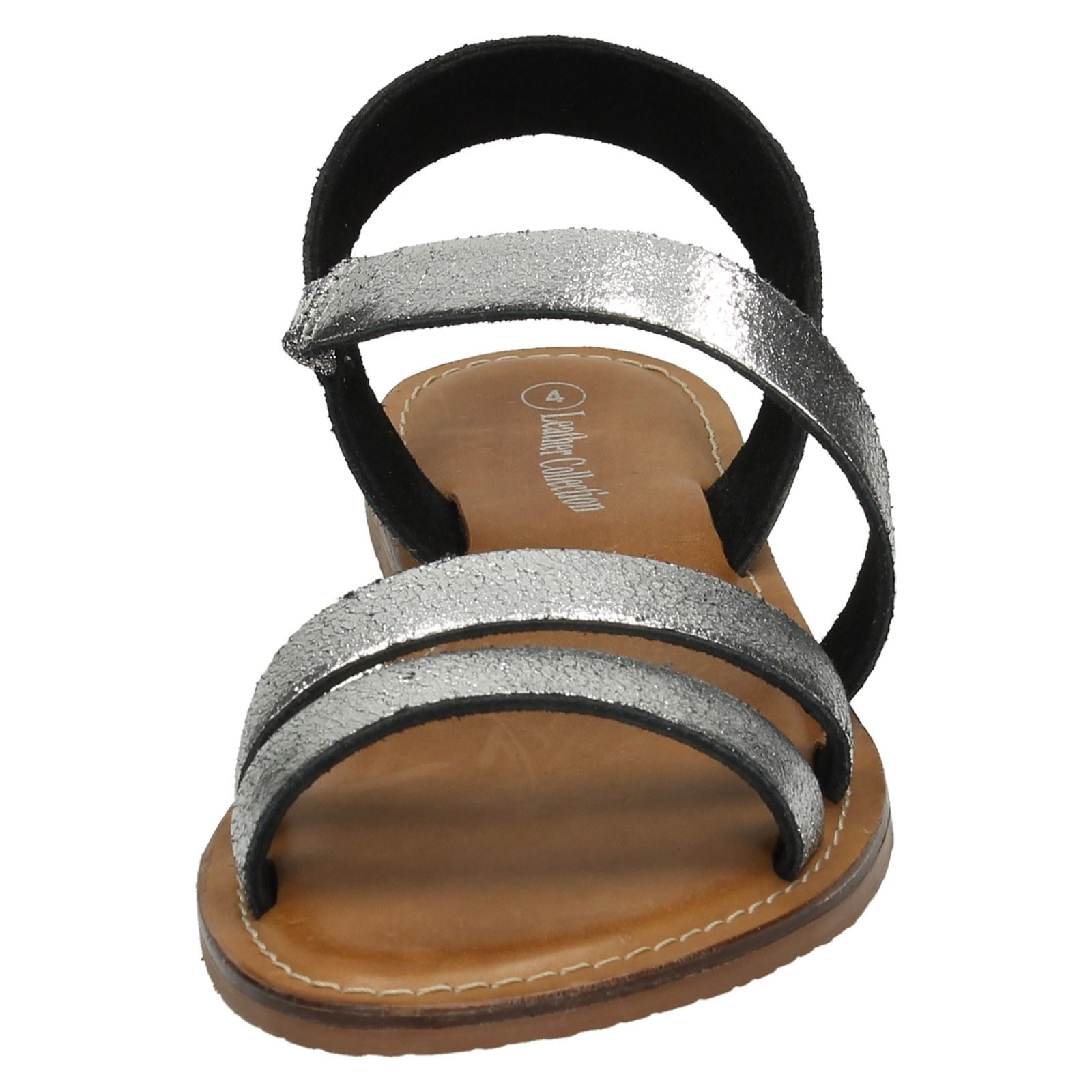Ladies Flat Y Strap Slingback Mule Ladies Leather Collection