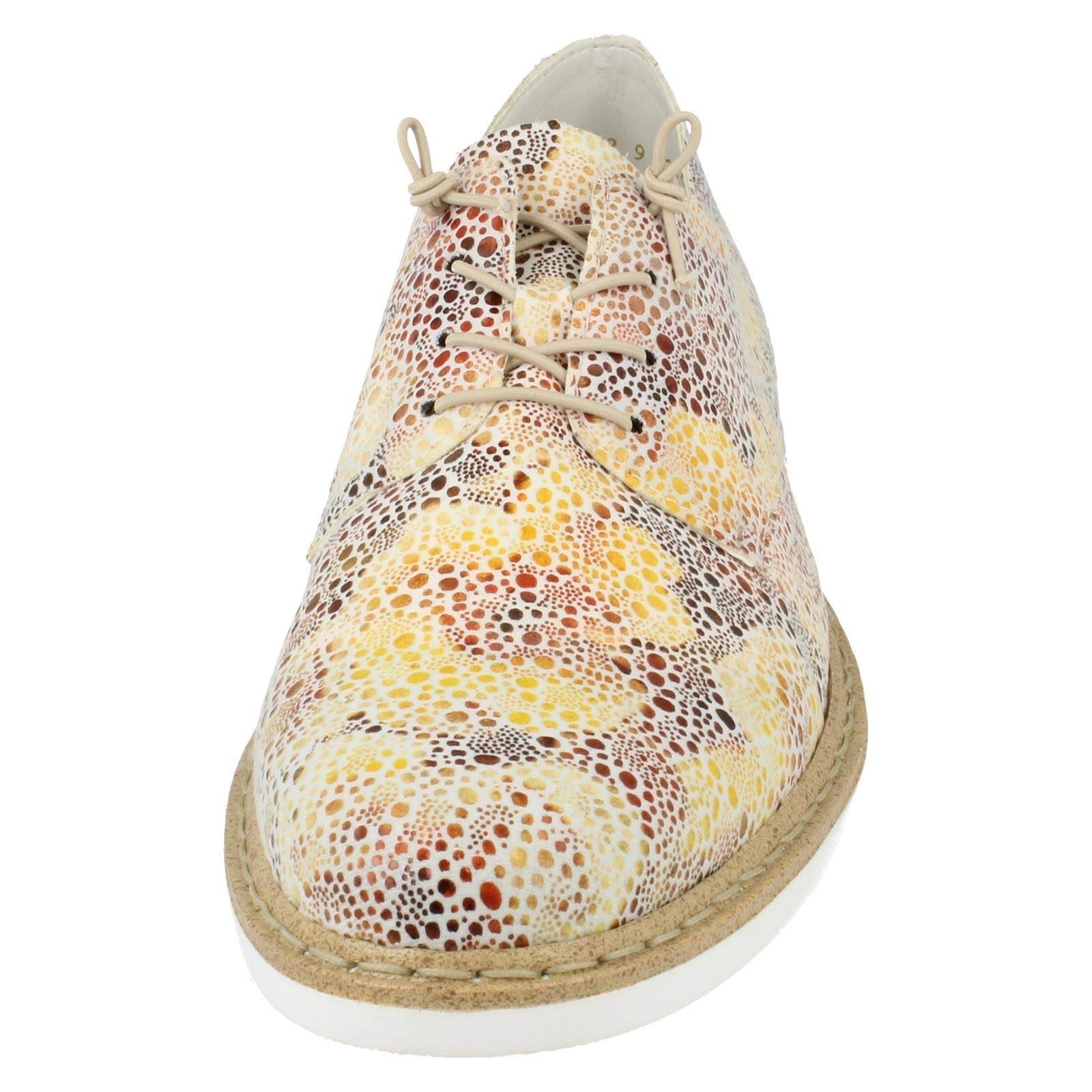 Ladies Rieker Elasticated Lace Up Shoes N0400