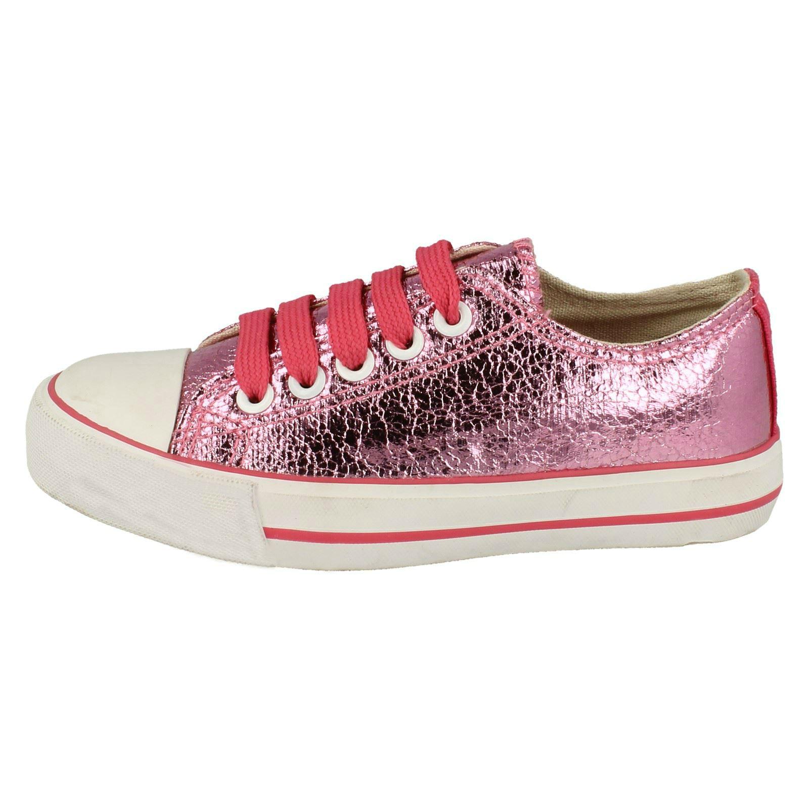 Girls Spot On Glitter Pumps