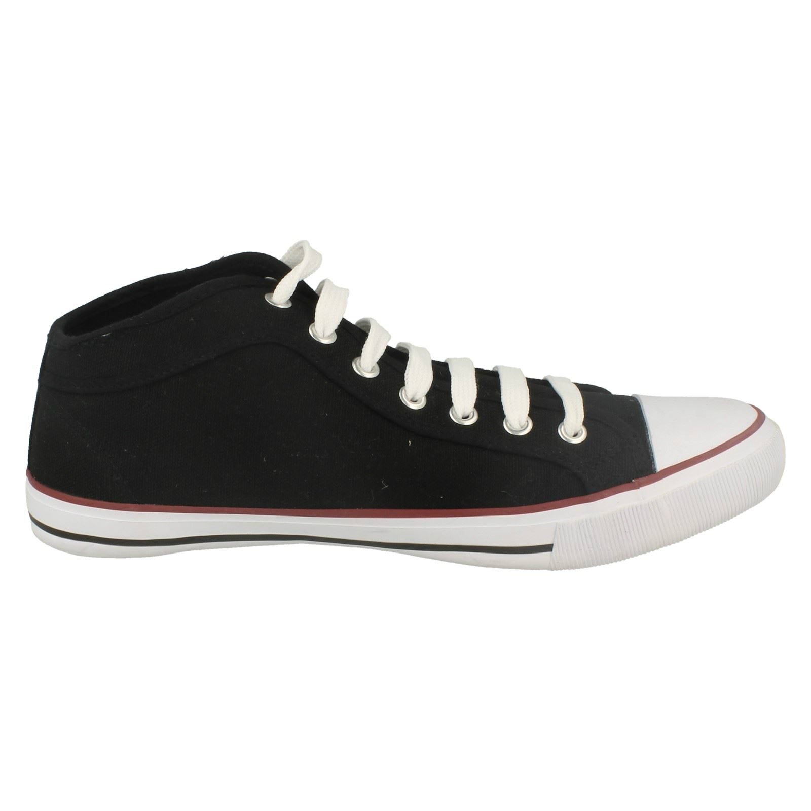 Mens Spot On Flat Lace Up Casual Pumps