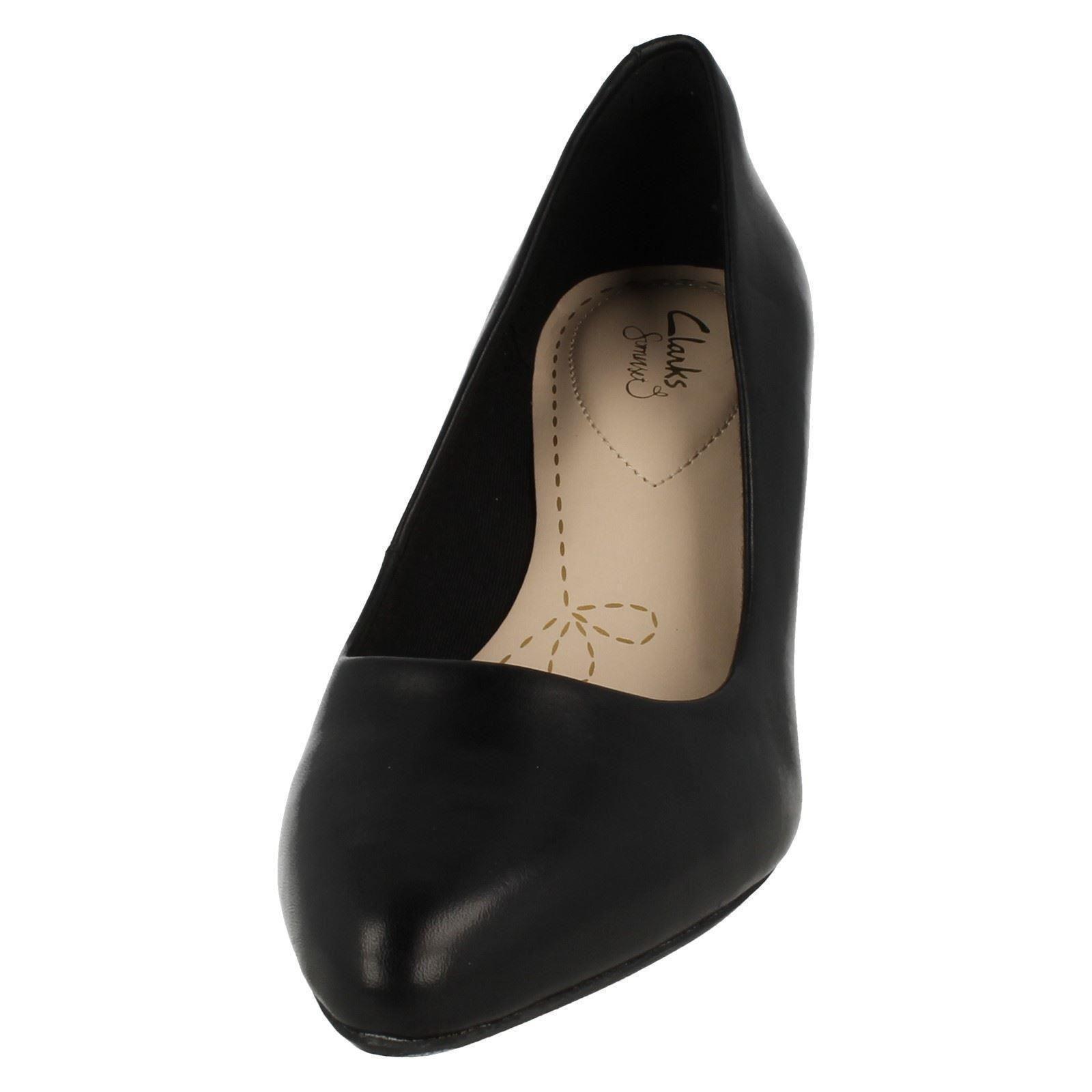 Ladies Clarks Slip On Heeled Shoes Isidora Faye