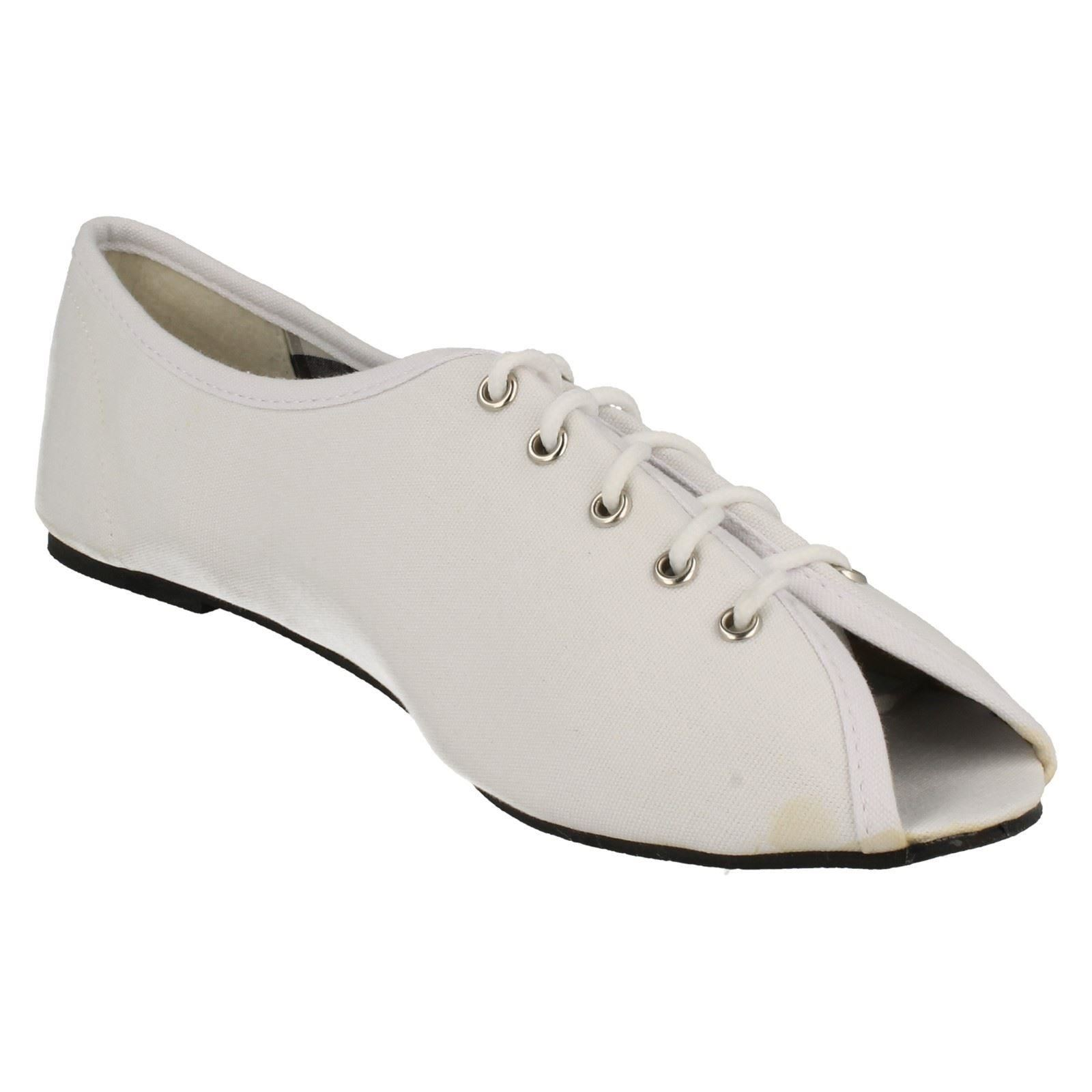 Ladies Spot On Casual Canvas /'Shoes/'