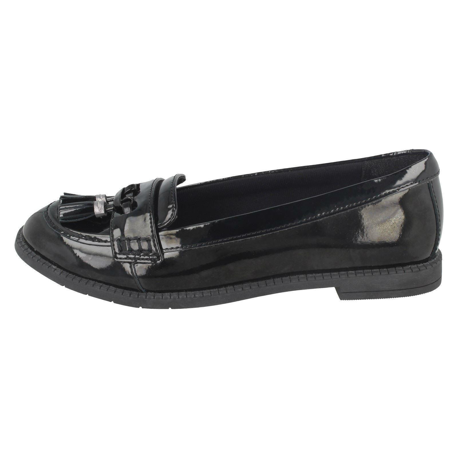 "Filles Clarks Formal slip on school Chaussures /""Preppy prix/"""